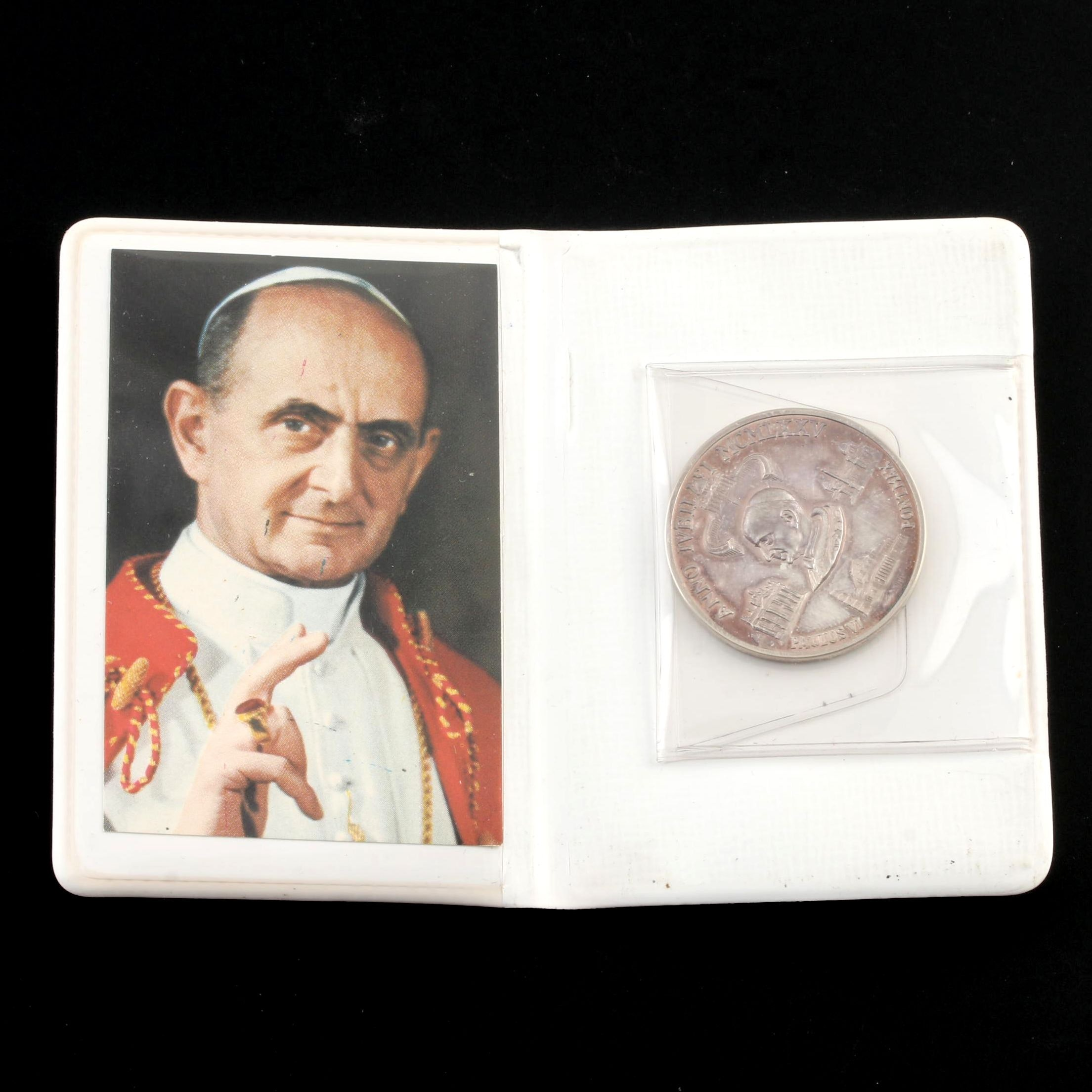 1975 Vatican City Pope Paul VI Silver Medal
