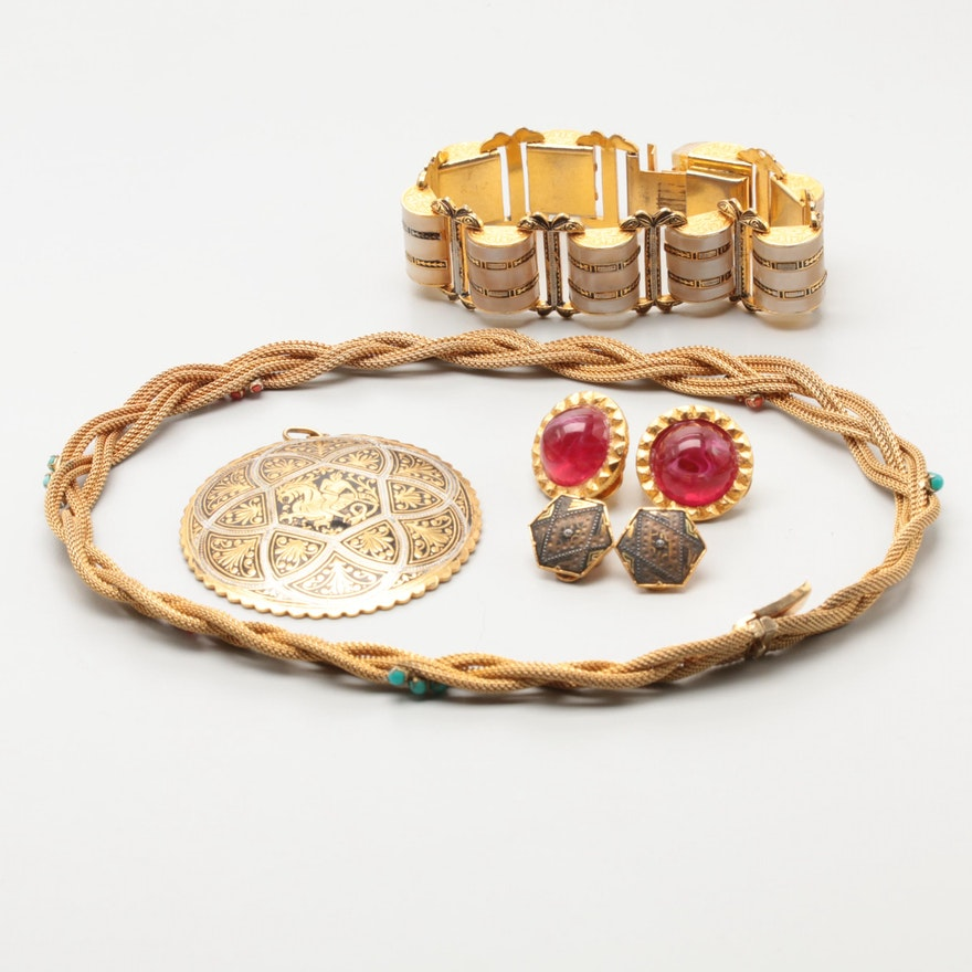 Vintage Jewelry Featuring Hattie Carnegie, Grosse Germany, and Glass