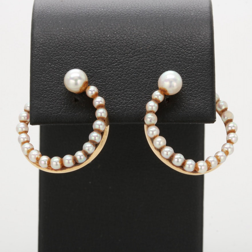 Fisher & Company Vintage Cultured Pearl Earrings