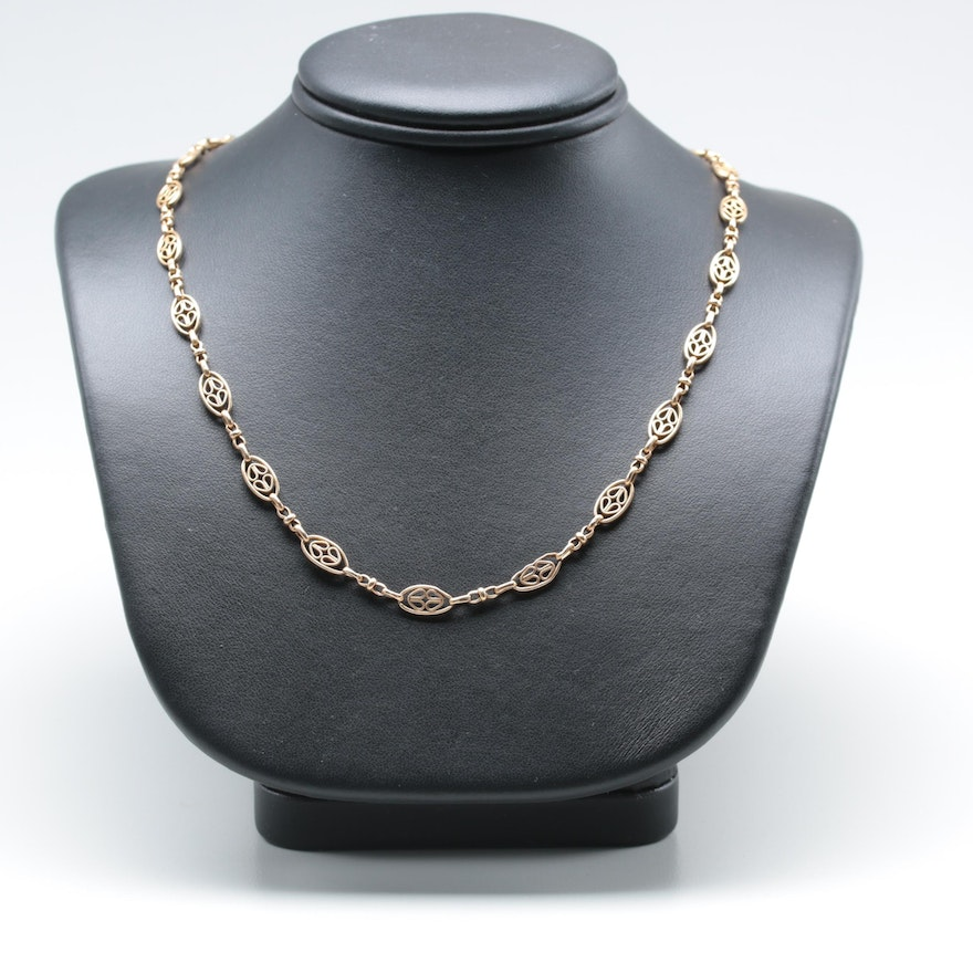 Vintage 14K and 10K Yellow Gold Watch Chain