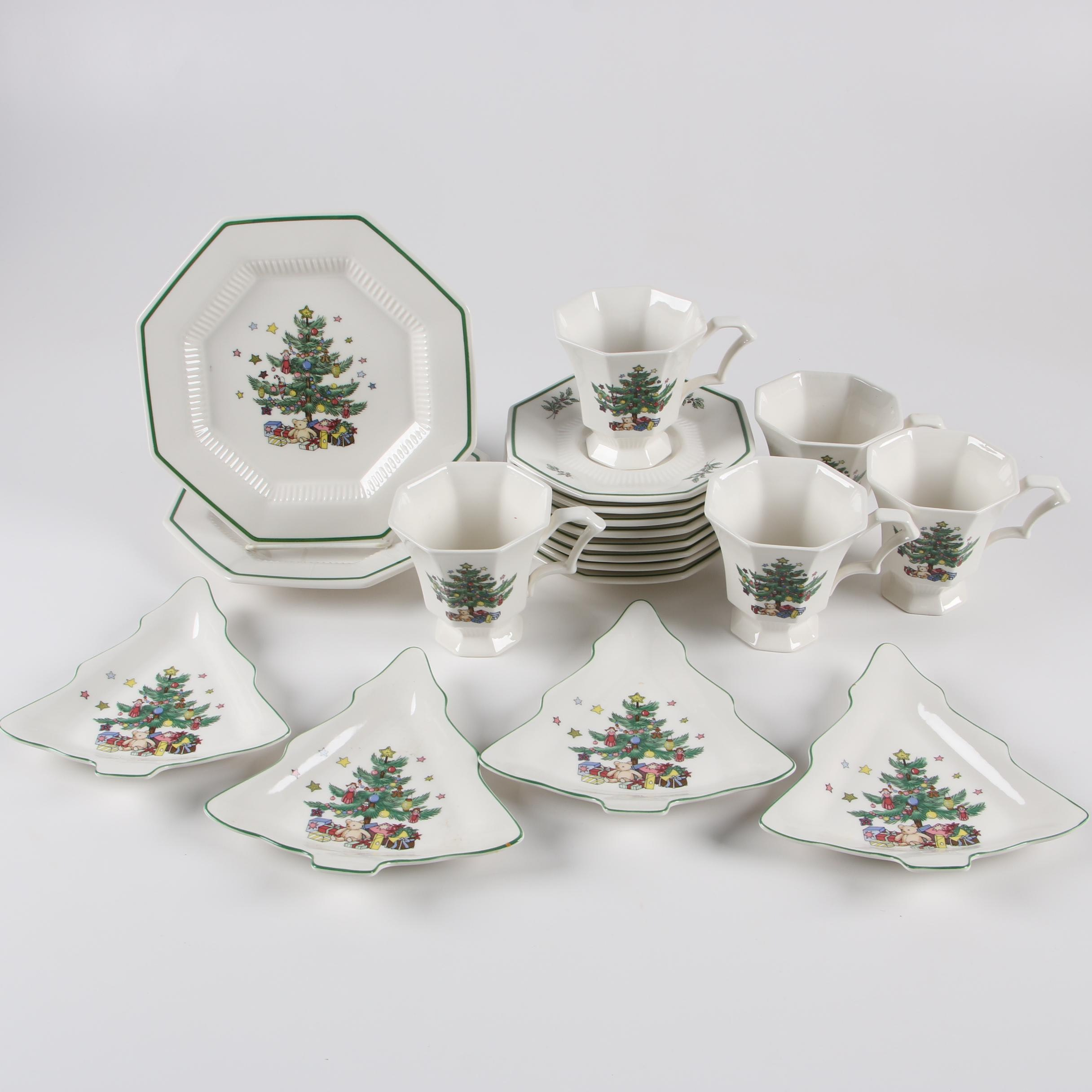 """Nikko """"Christmastime"""" and """"Classic Collection"""" Earthenware Dinnerware"""