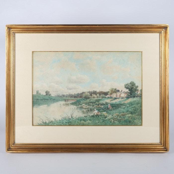 Claude Francois Auguste Mesgriny Watercolor Painting