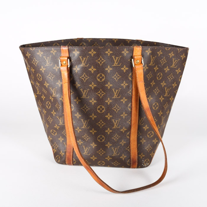 1998 Louis Vuitton Monogram Canvas Sac Shopping Tote Bag