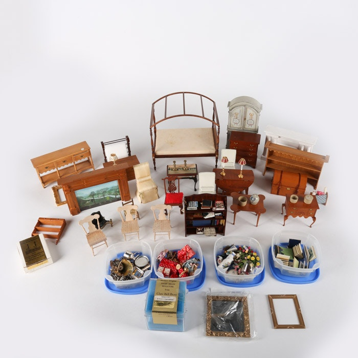 R.L. Gutheil and Other Miniature Dollhouse Furniture and Décor