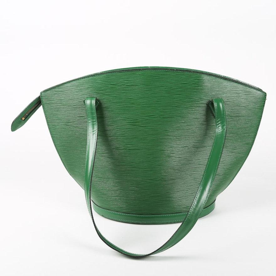 a0bb5b8e7191 1993 Louis Vuitton Saint Jacques Borneo Green Epi Leather Handbag   EBTH