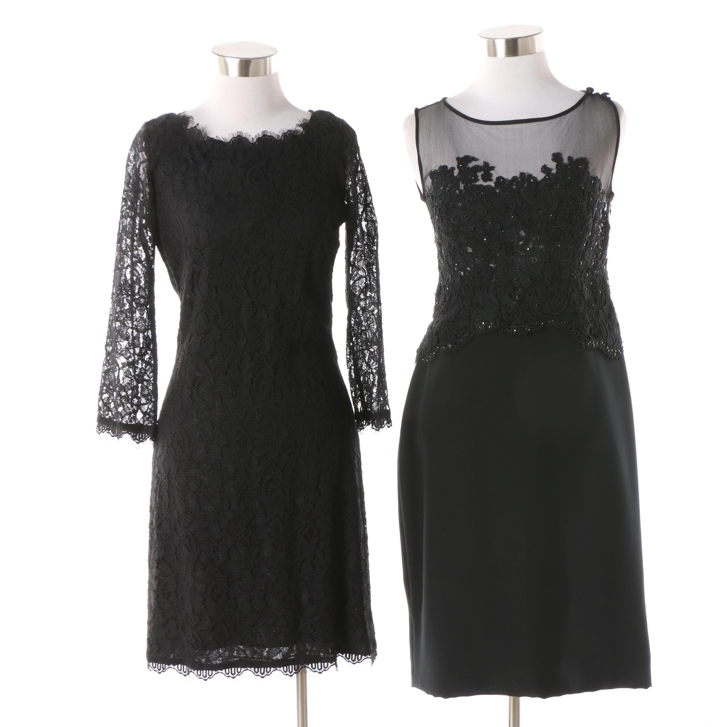 Diane von Furstenberg Black Zarita Dress and Yoly Muñoz Illusion Yoke Dress