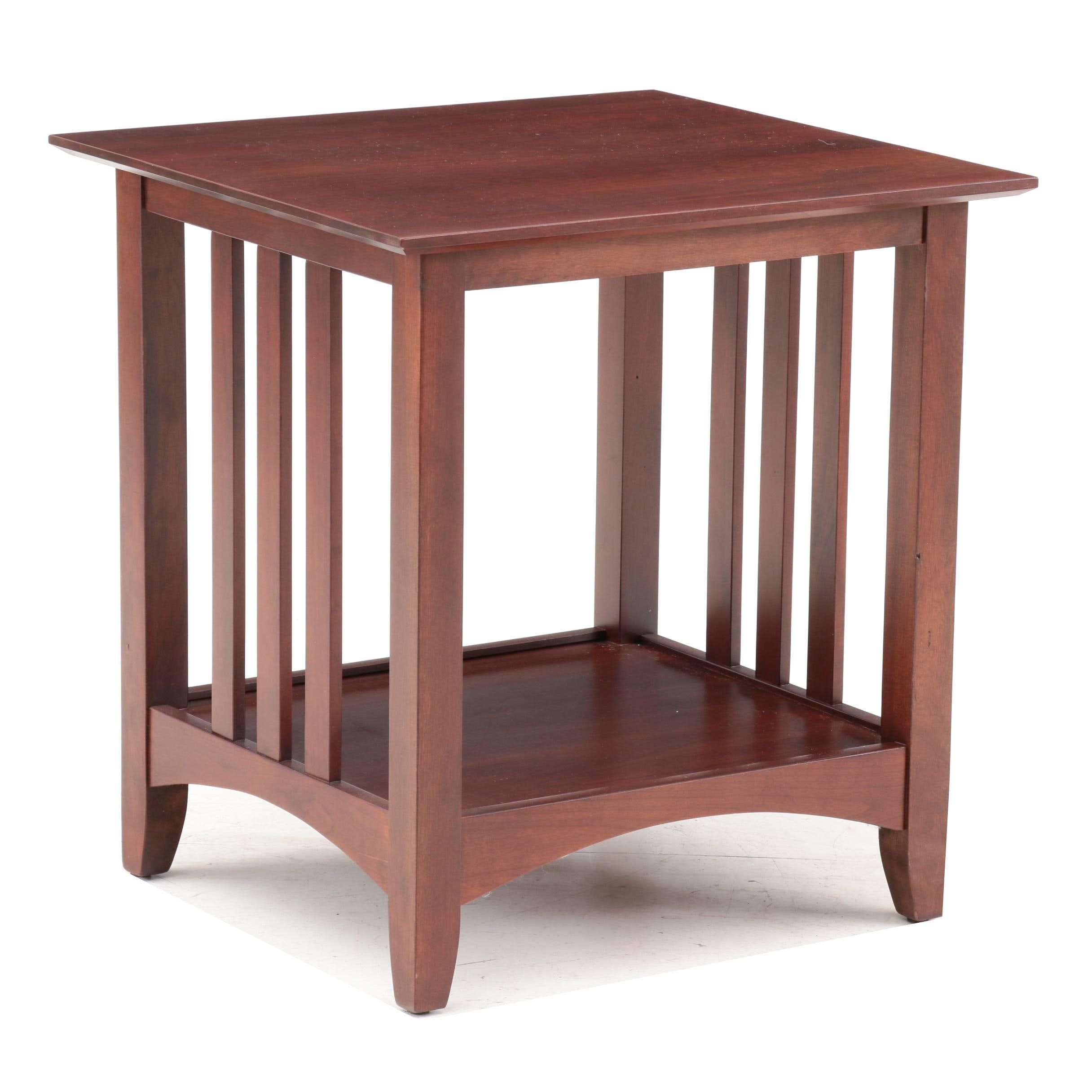 Mission Style Mahogany Veneer End Table, Late 20th Century ...