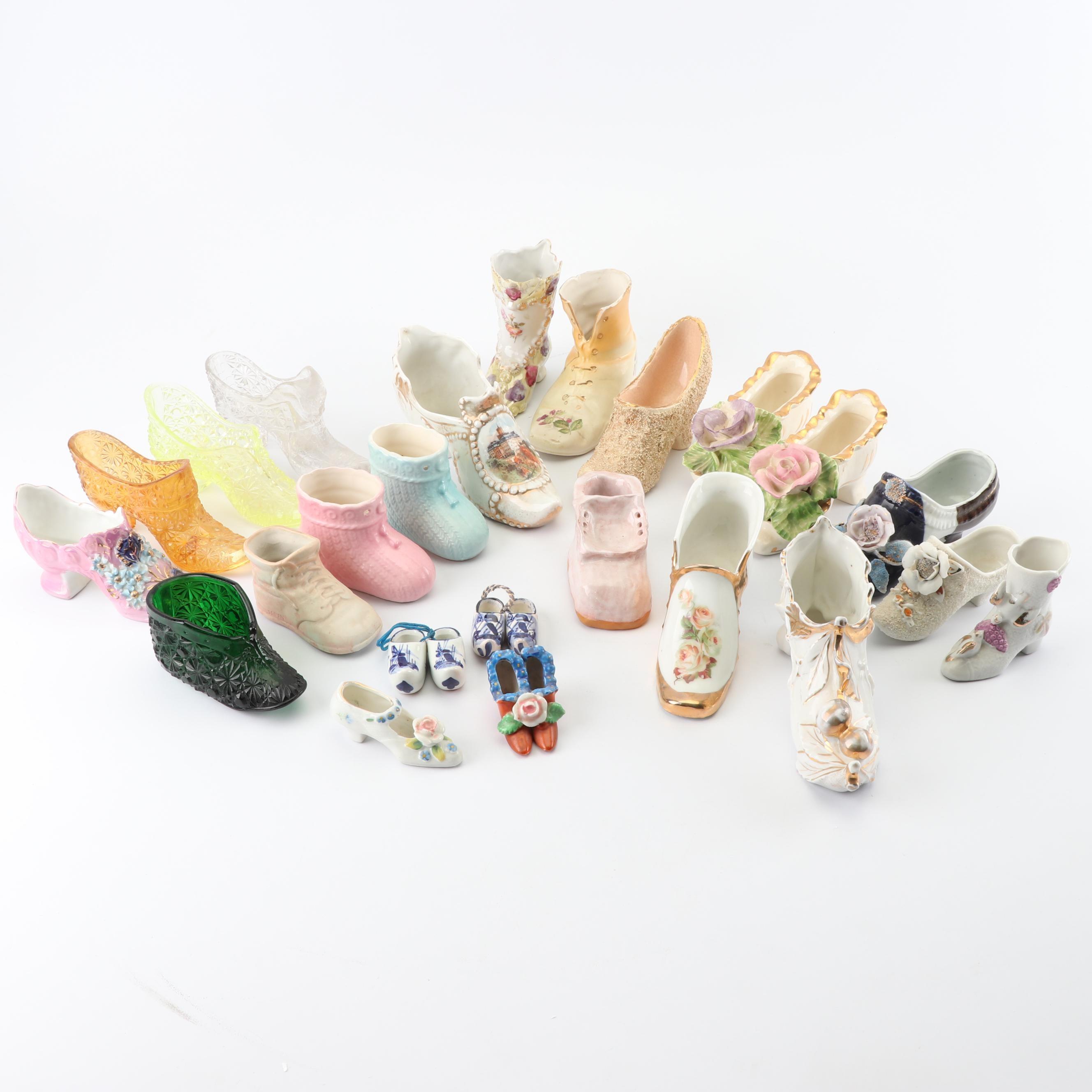 Vintage Decorative Miniature Shoe Figurines