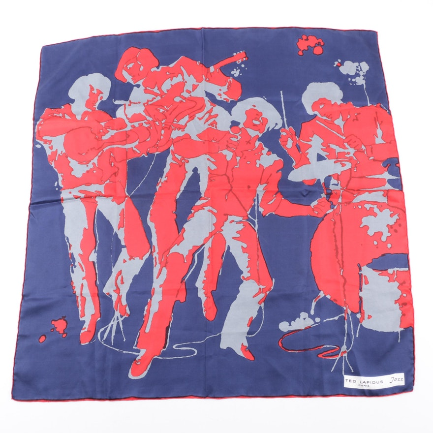 46ddc90ae9d3 Vintage Ted Lapidus Paris Jazz Silk Scarf   EBTH