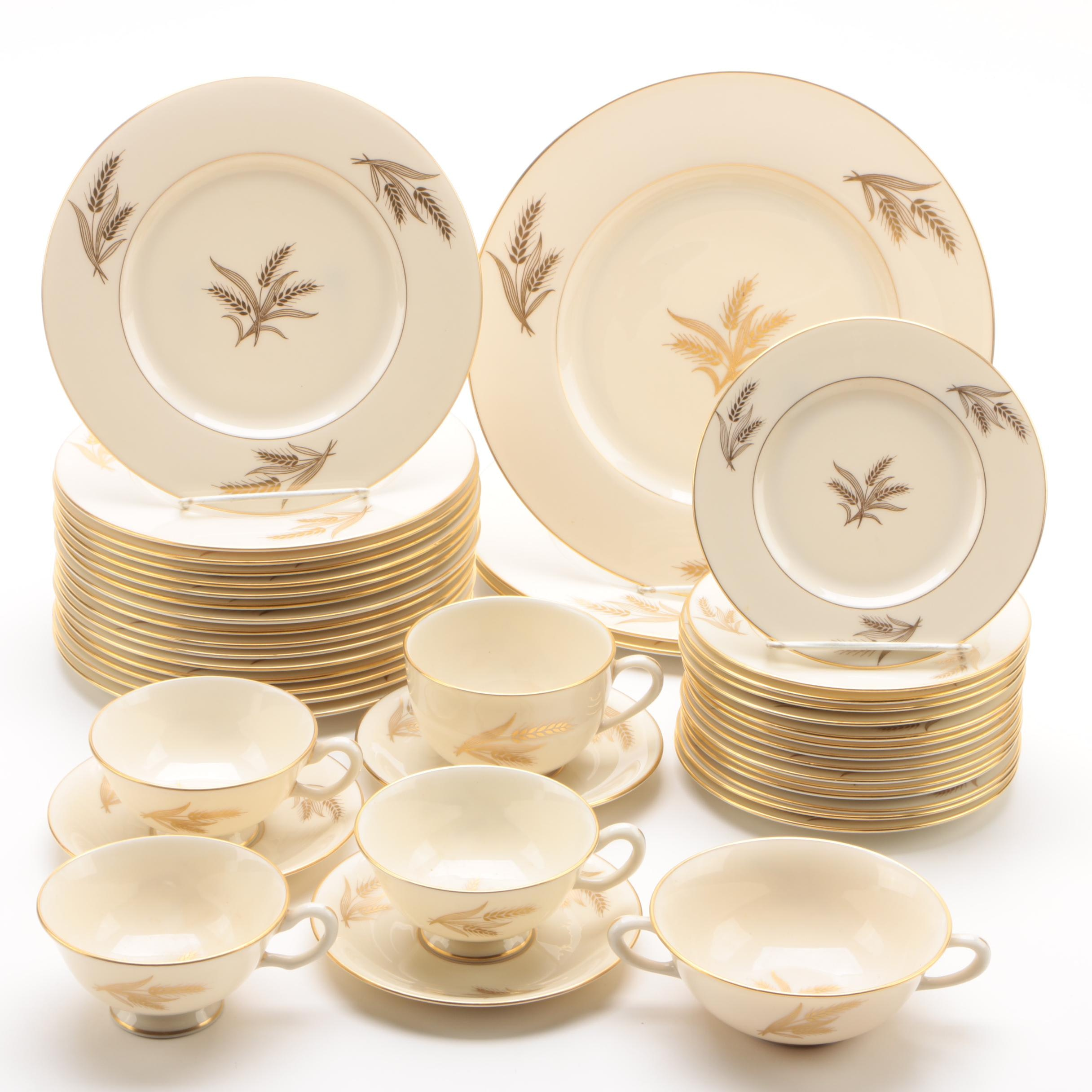 "Mid to Late 20th Century Lenox ""Harvest"" Porcelain Dinnerware Pieces"