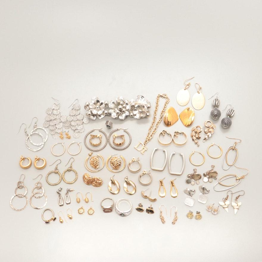 Assortment of Costume Glass, Enamel and Cubic Zirconia Jewelry