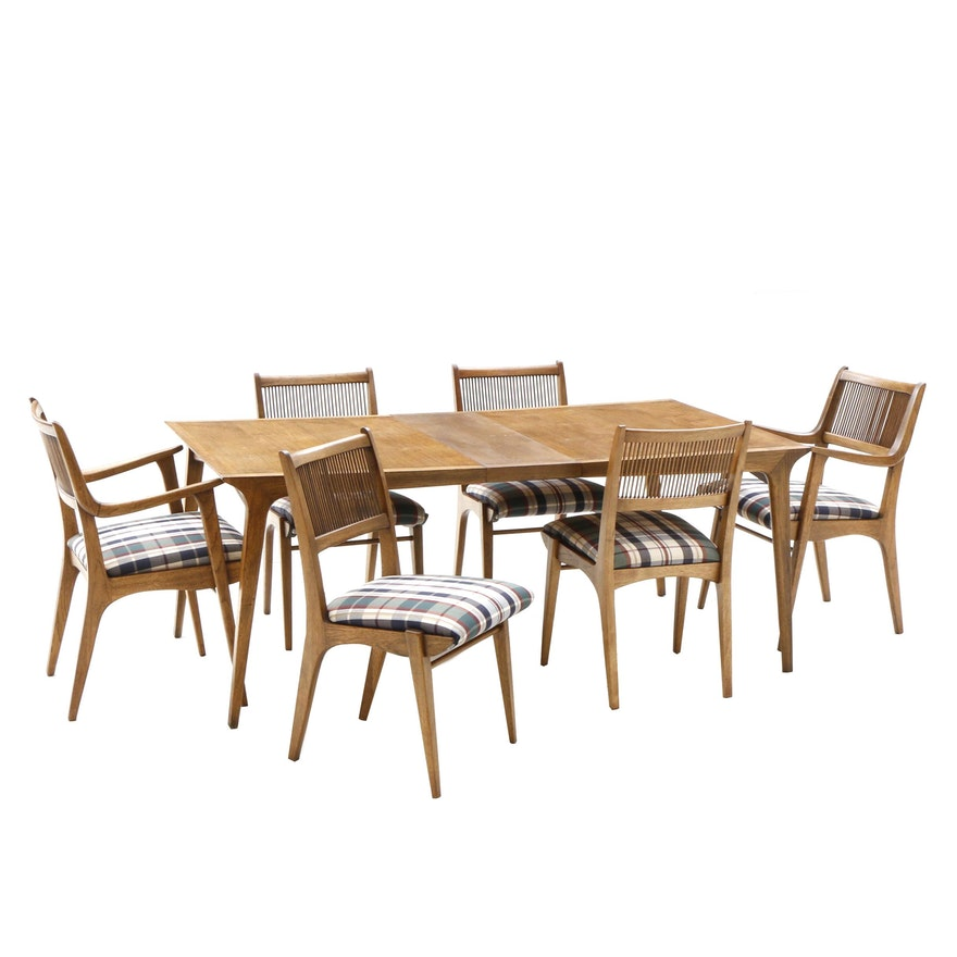 Terrific Mid Century Modern Walnut Dining Table And Chairs By Drexel Mid 20Th Century Dailytribune Chair Design For Home Dailytribuneorg
