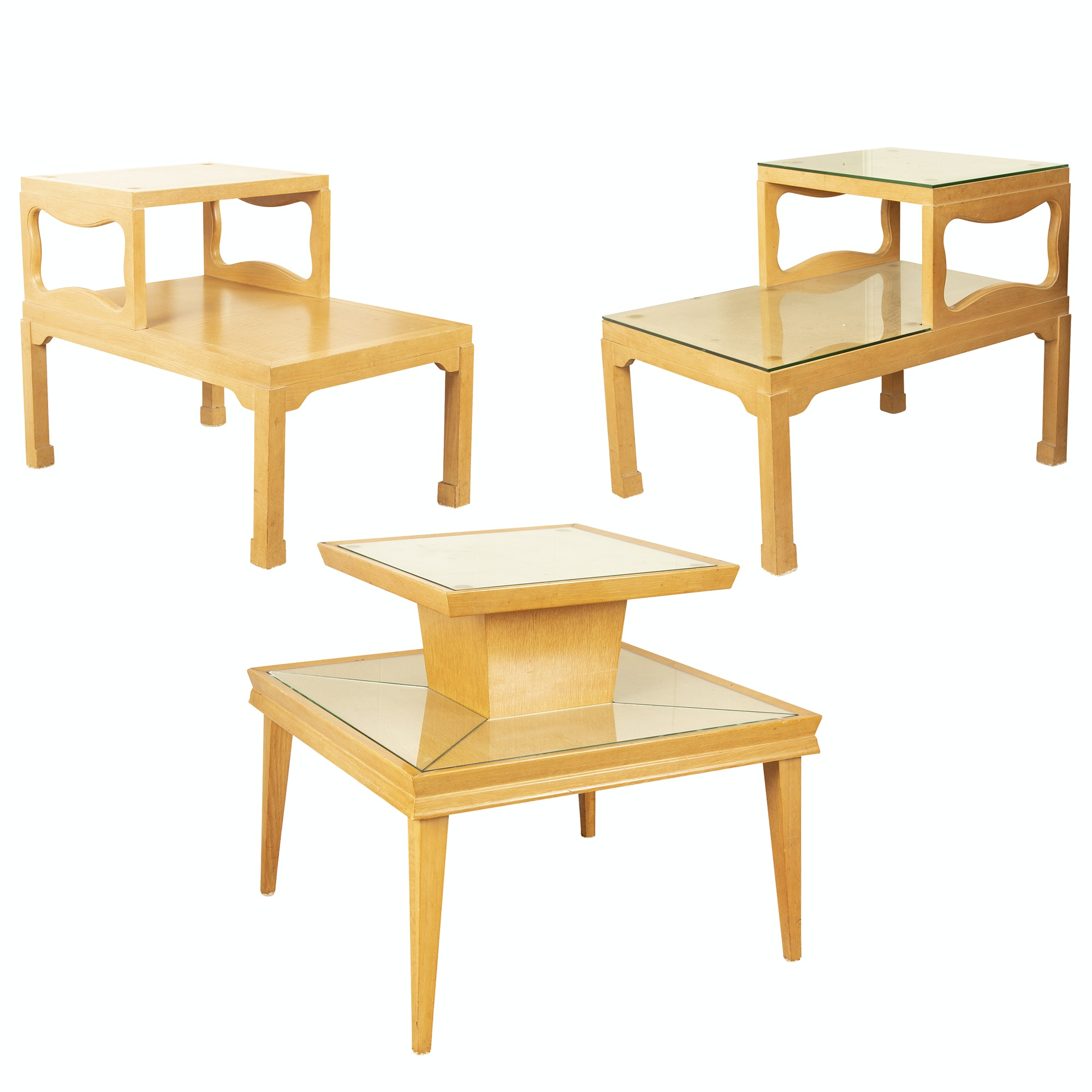 Maple Coffee Table and End Tables by Harmony House, Mid-20th Century