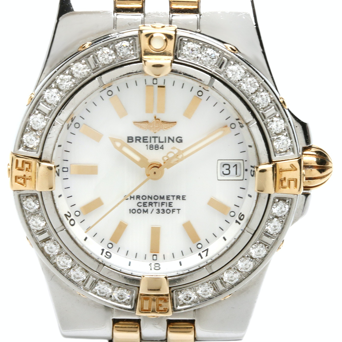 Breitling Starliner Two-Tone Mother of Pearl and Diamond Wristwatch