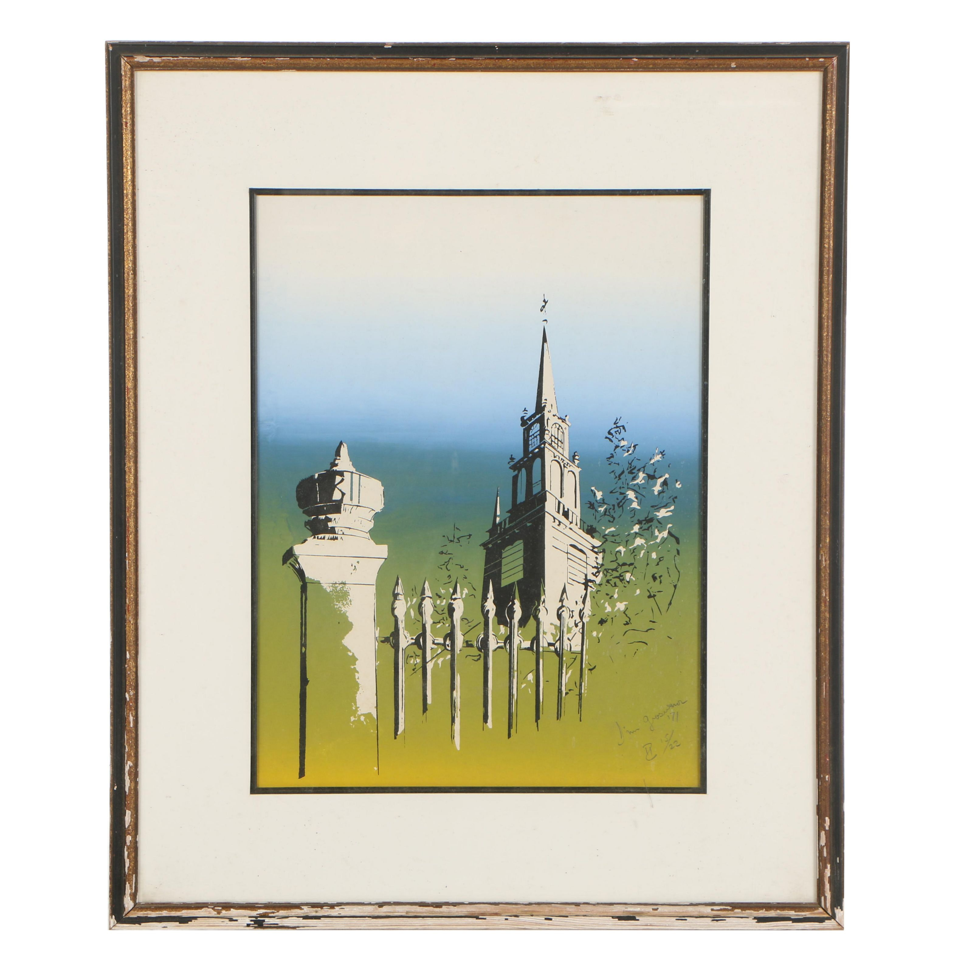Abstract Serigraph of a Spire