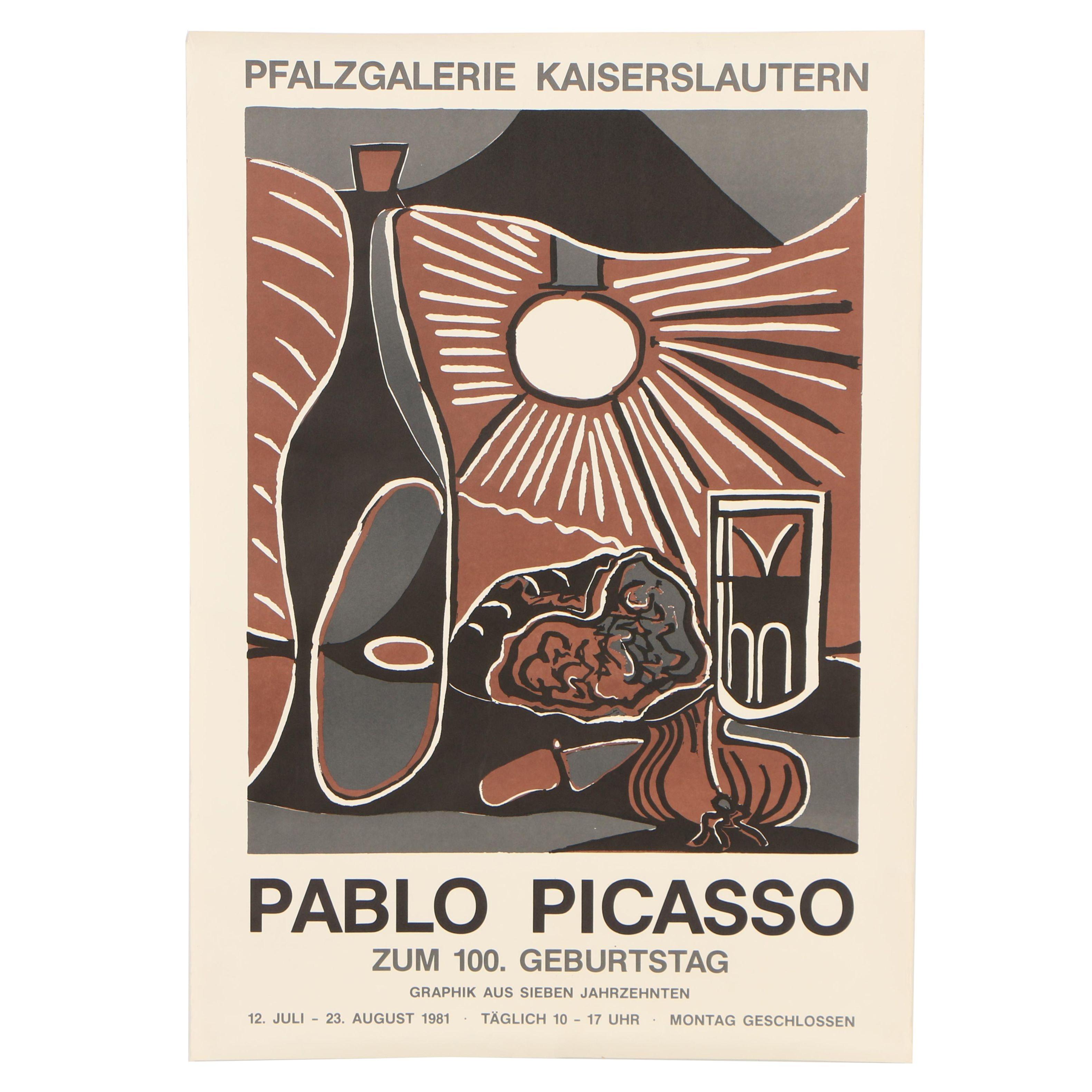 German Retrospective Exhibition Poster After Pablo Picasso