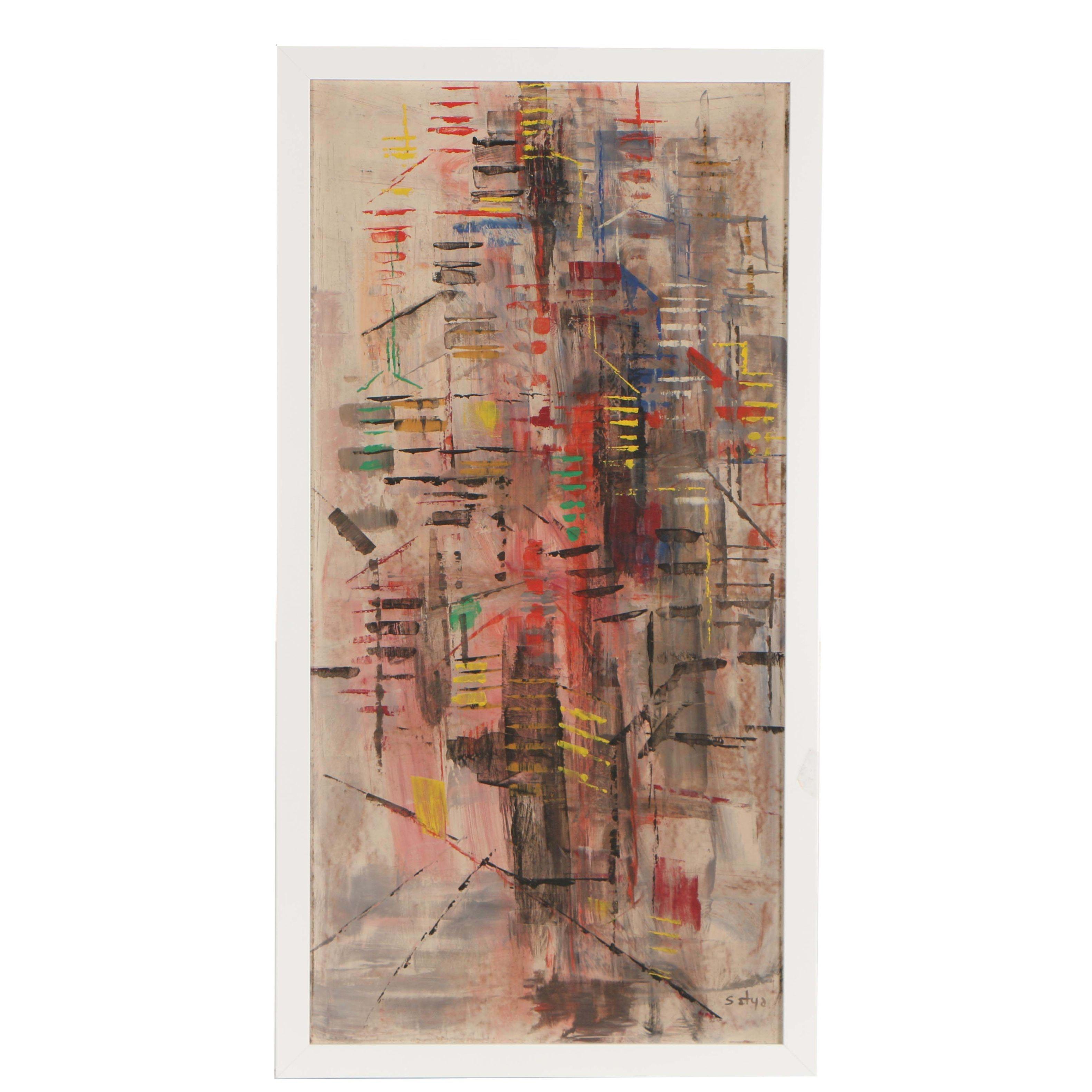 Satya Abstract Oil Painting