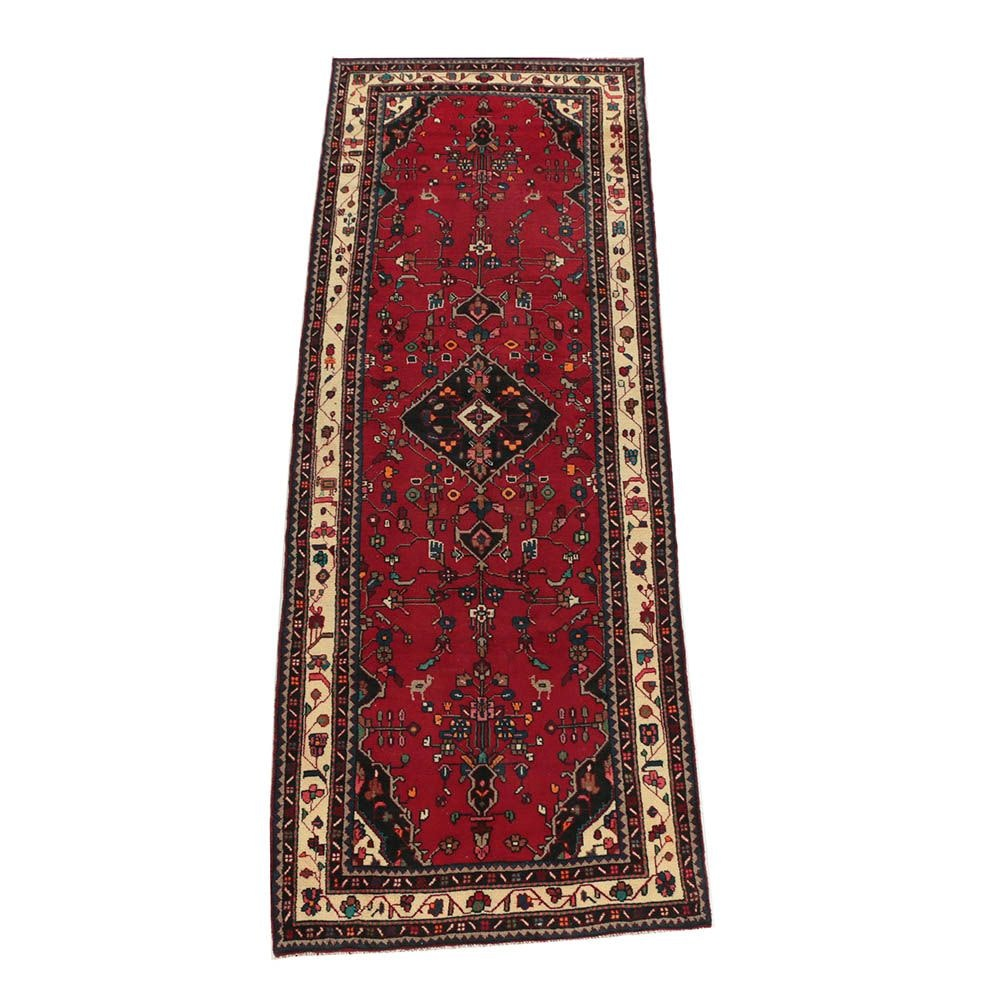 Hand-Knotted Persian Malayer Wool Runner