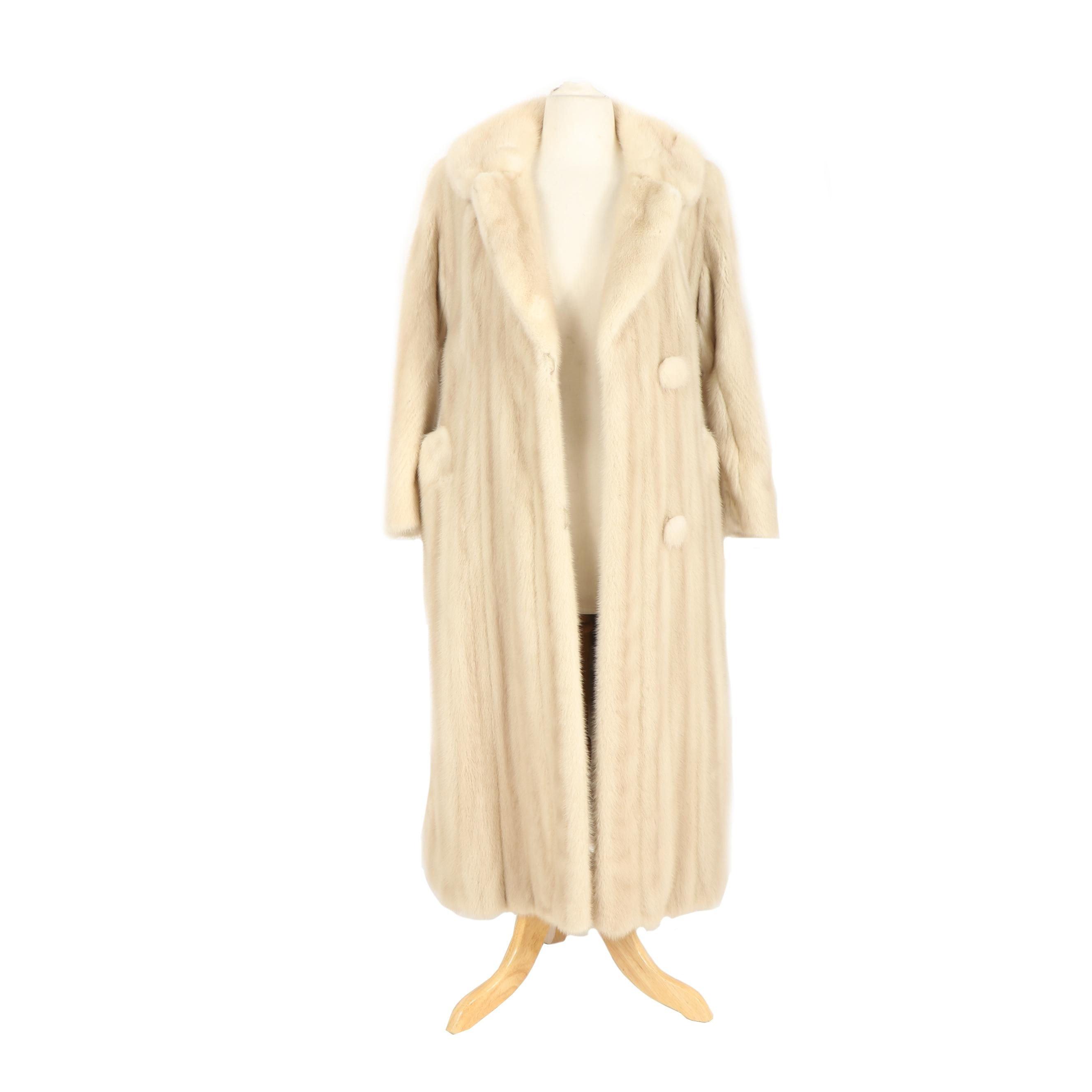 Vintage Tourmaline Mink Fur Coat from Graggs of Wichita