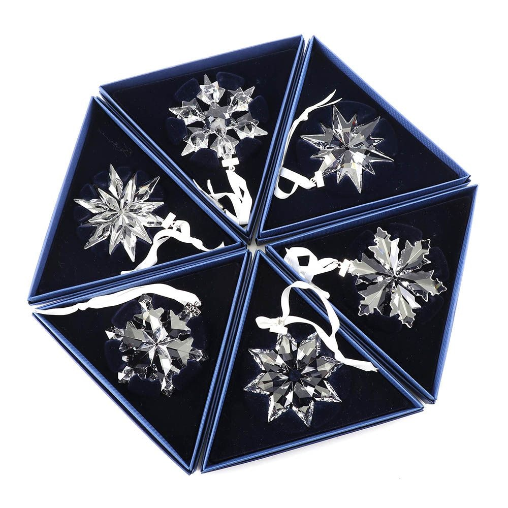 Swarovski Crystal Snowflake Christmas Ornaments, 2010-2017