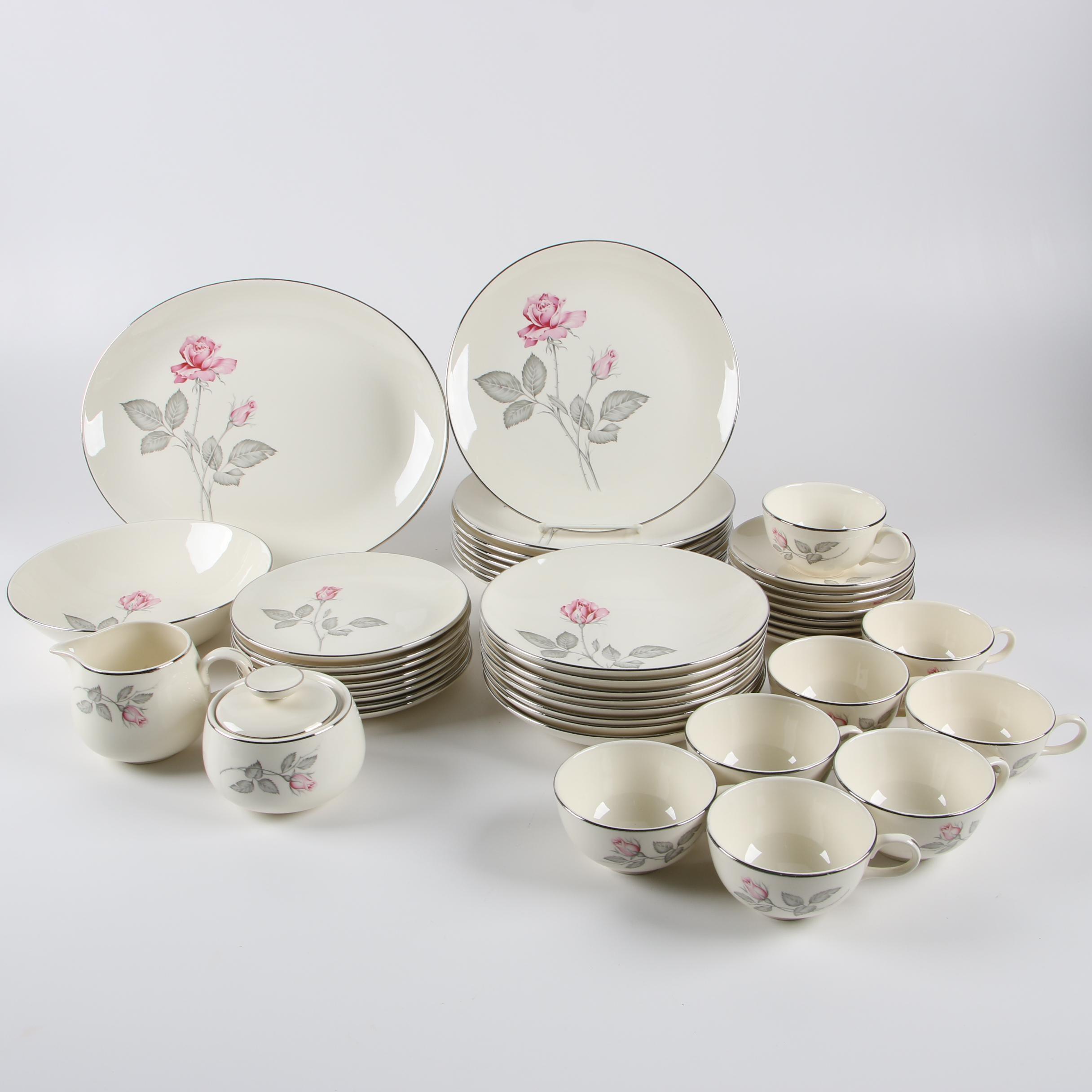 """Vintage Zylstra """"Zylstra Rose"""" Ceramic Dinnerware"""