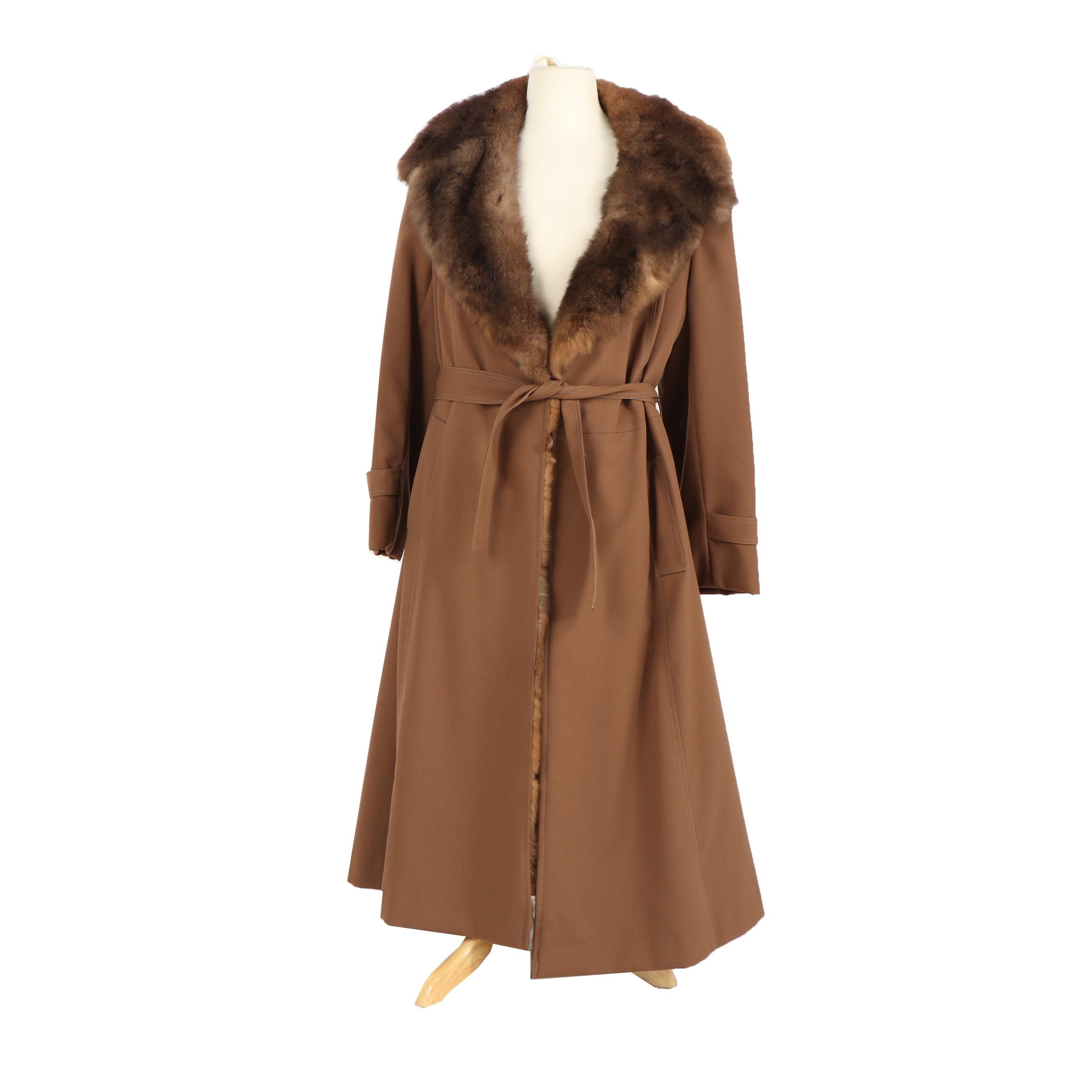 Women's Opossum Fur Lined Coat