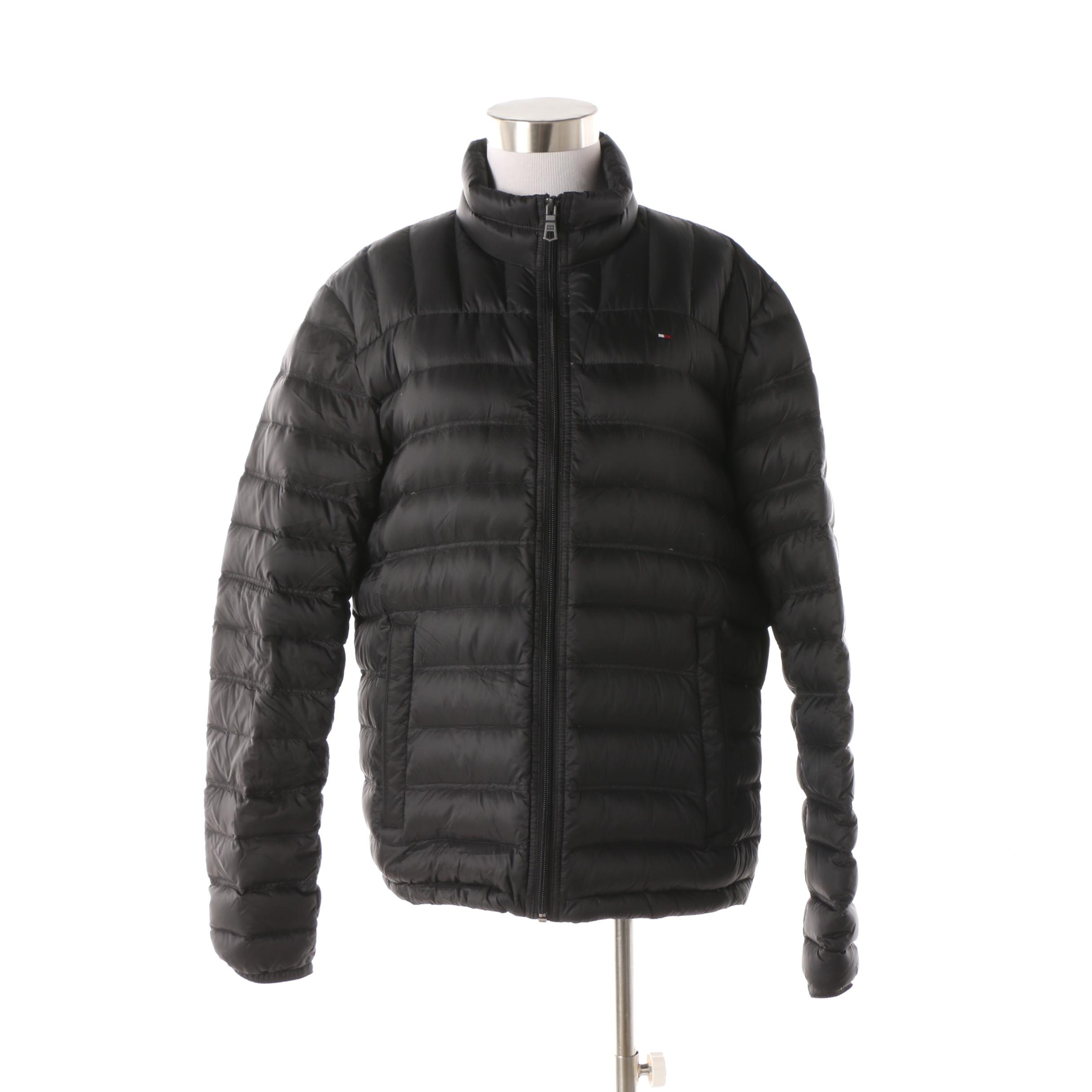 Women's Tommy Hilfiger Black Natural Down Packable Jacket