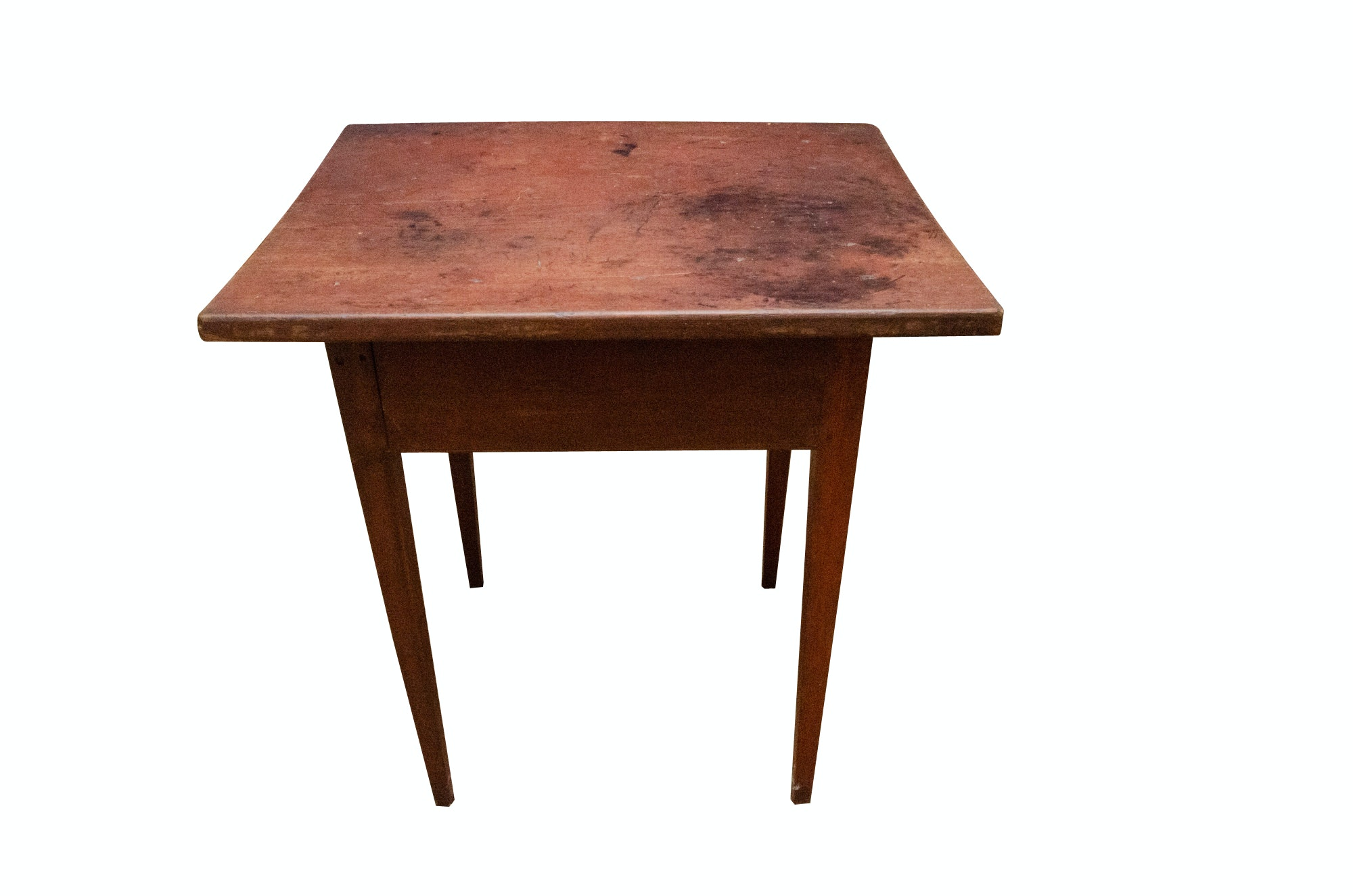 Pine Work Table with Original Paint, Early 19th Century