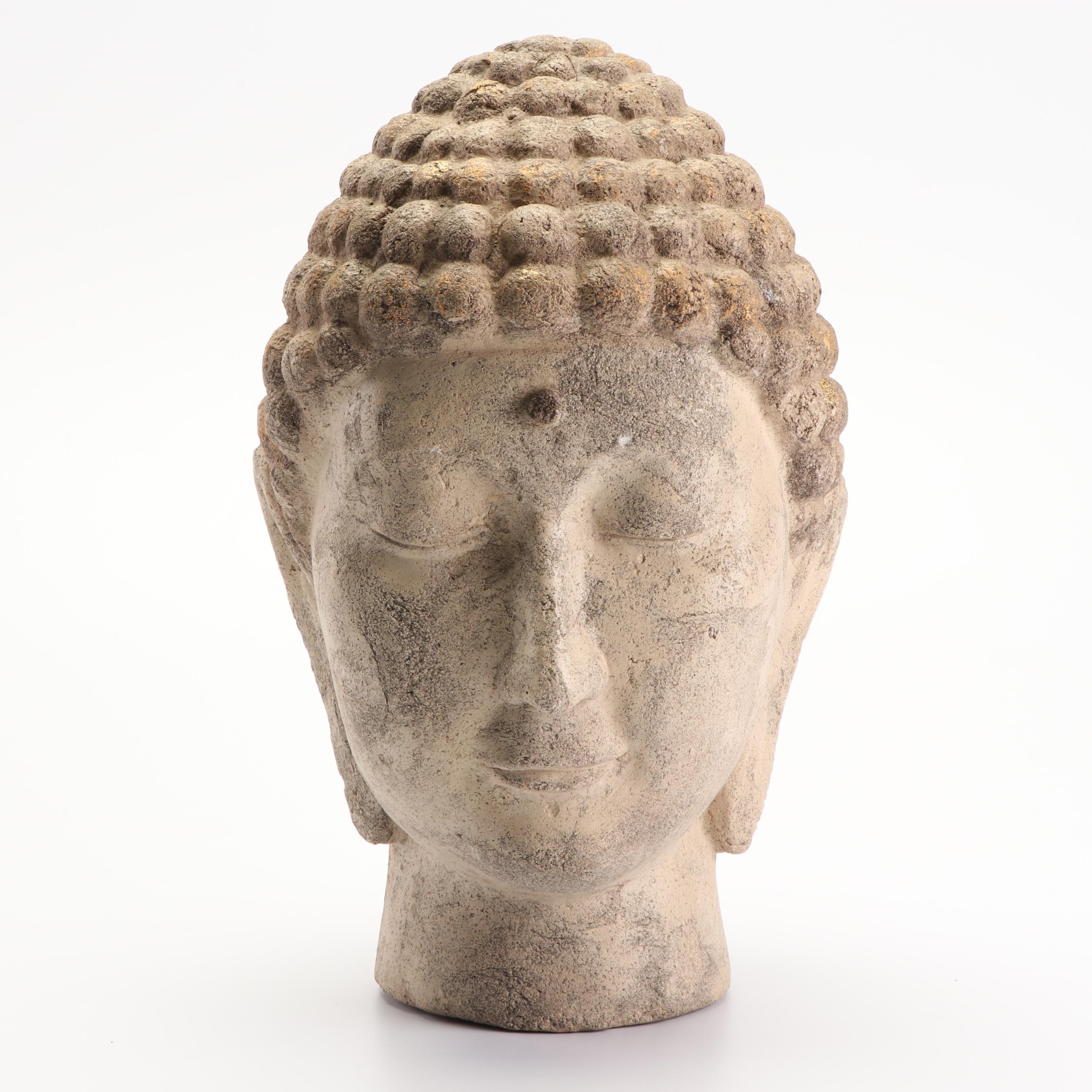 Plaster Cast Buddha Bust
