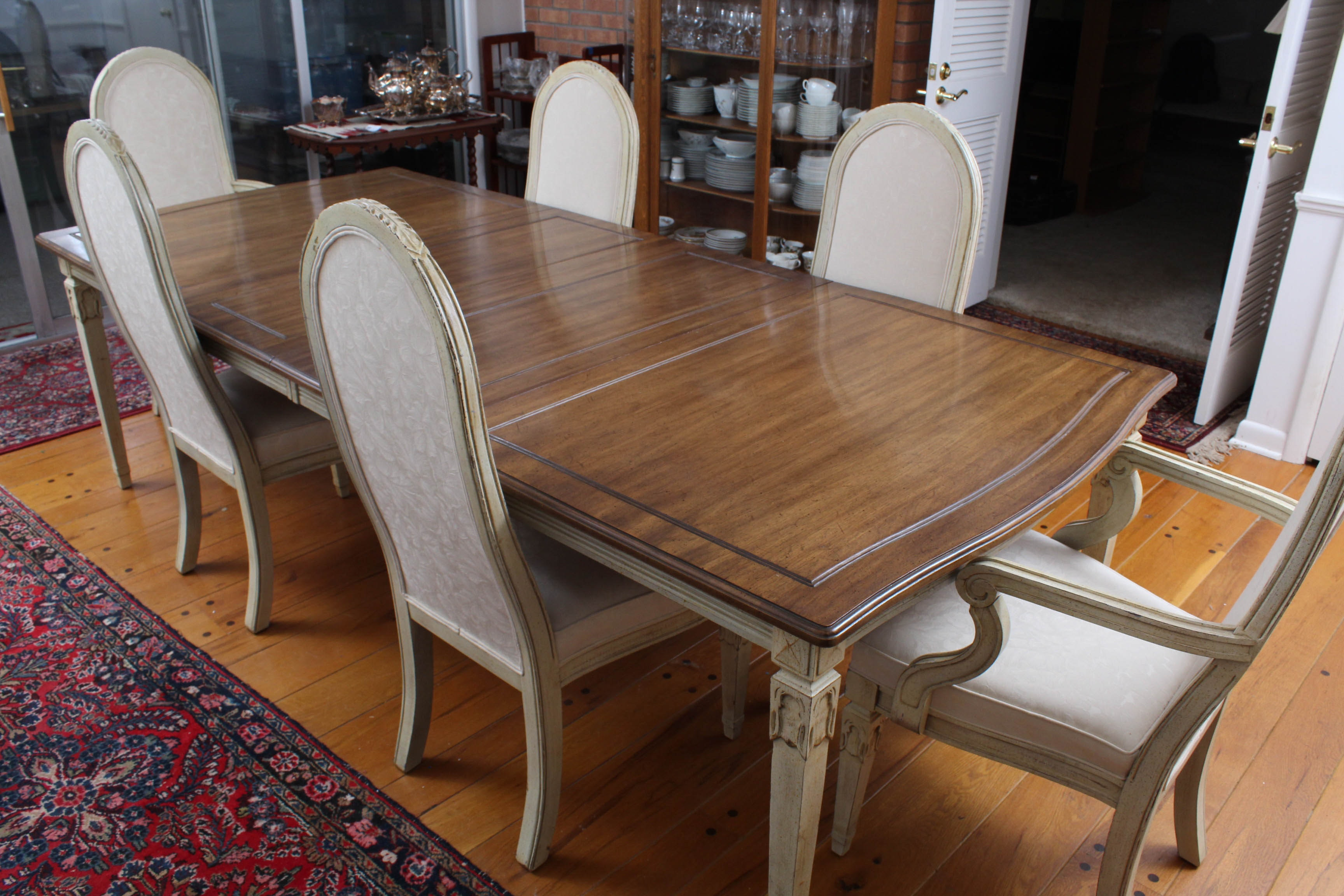 Vintage Davis Cabinet Co. French Provincial Style Dining Set
