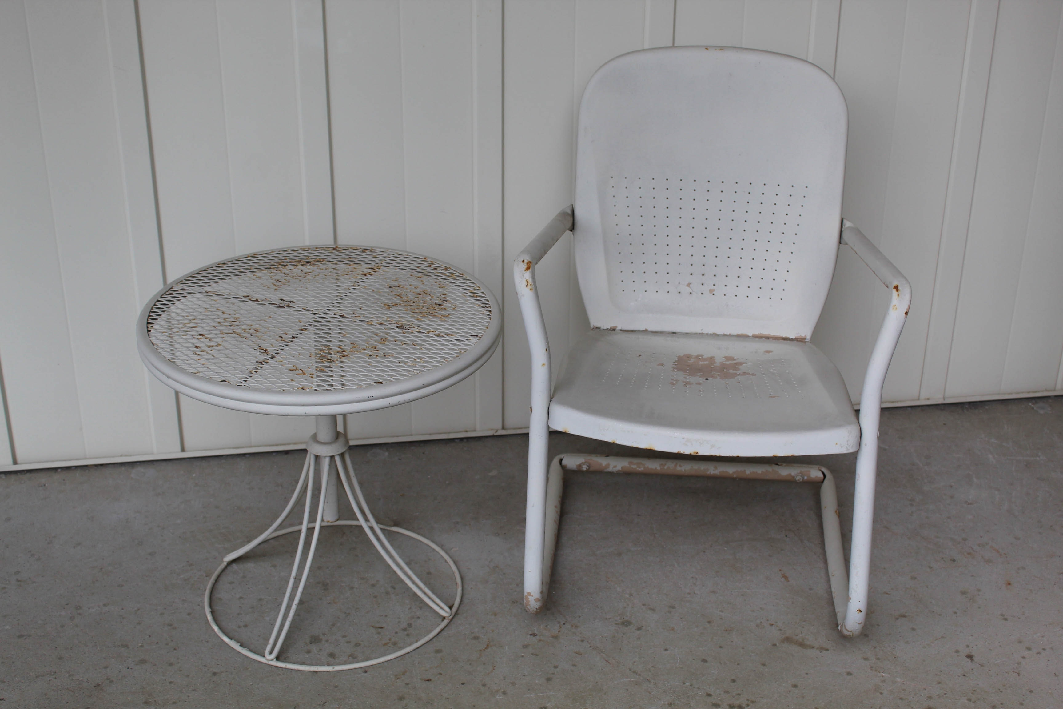 Vintage Patio Chairs and Tables