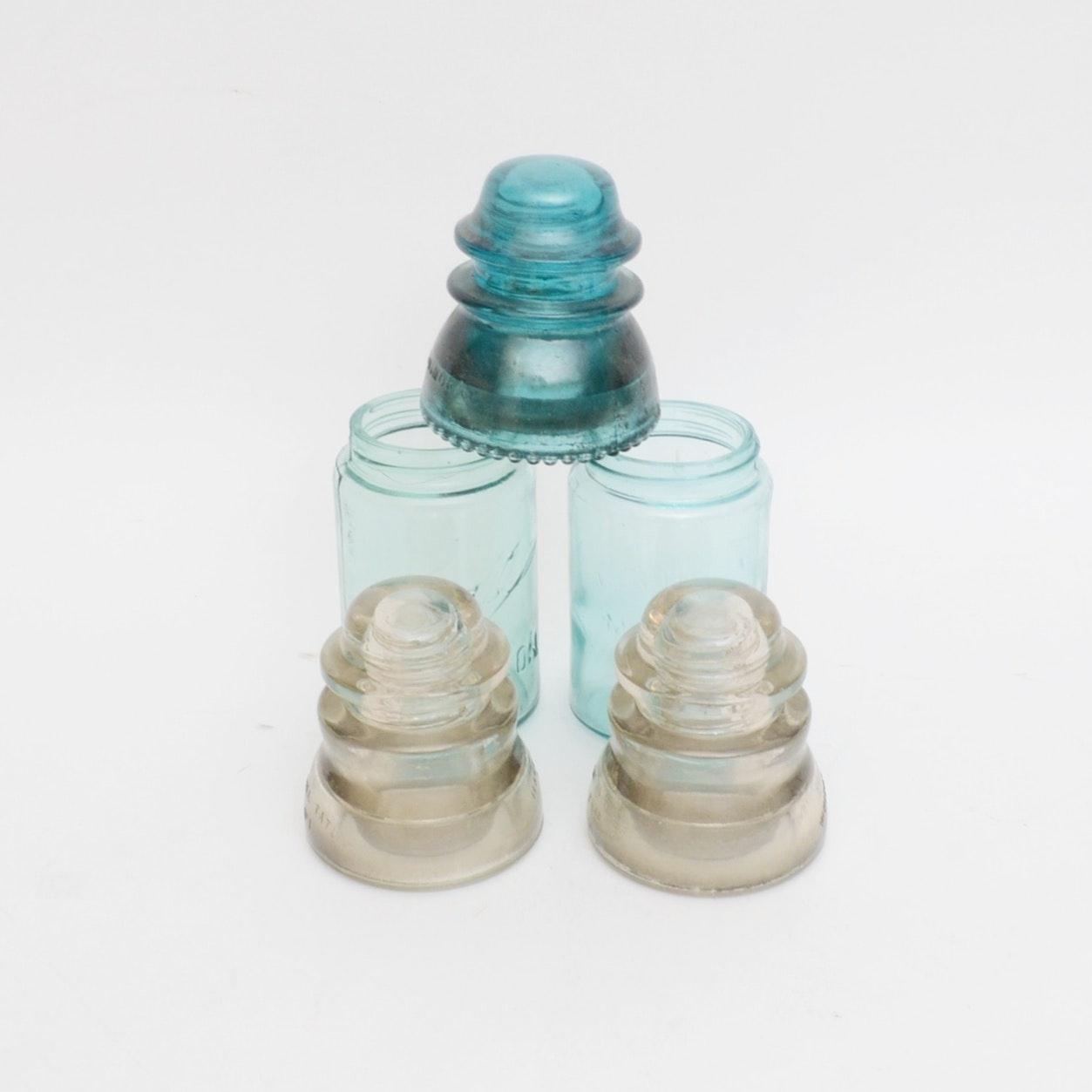 Vintage Insulators and Mason Jars