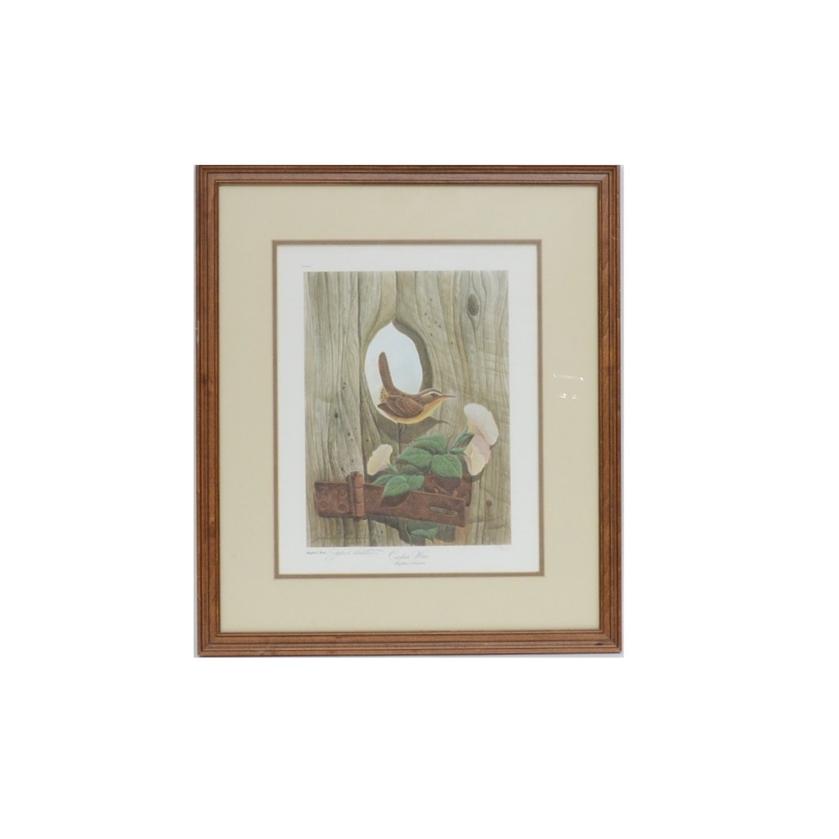 "John Ruthven Signed Limited Edition Offset Lithograph ""Carolina Wren"""