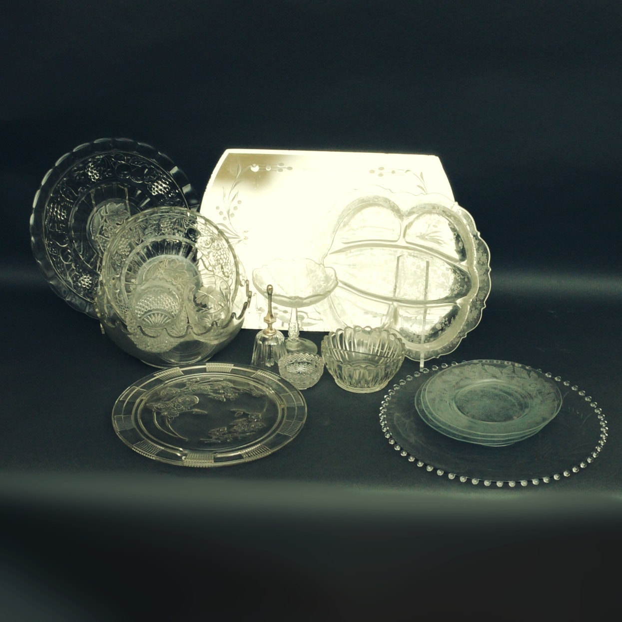 Grouping of  Glass Serveware Including Fostoria