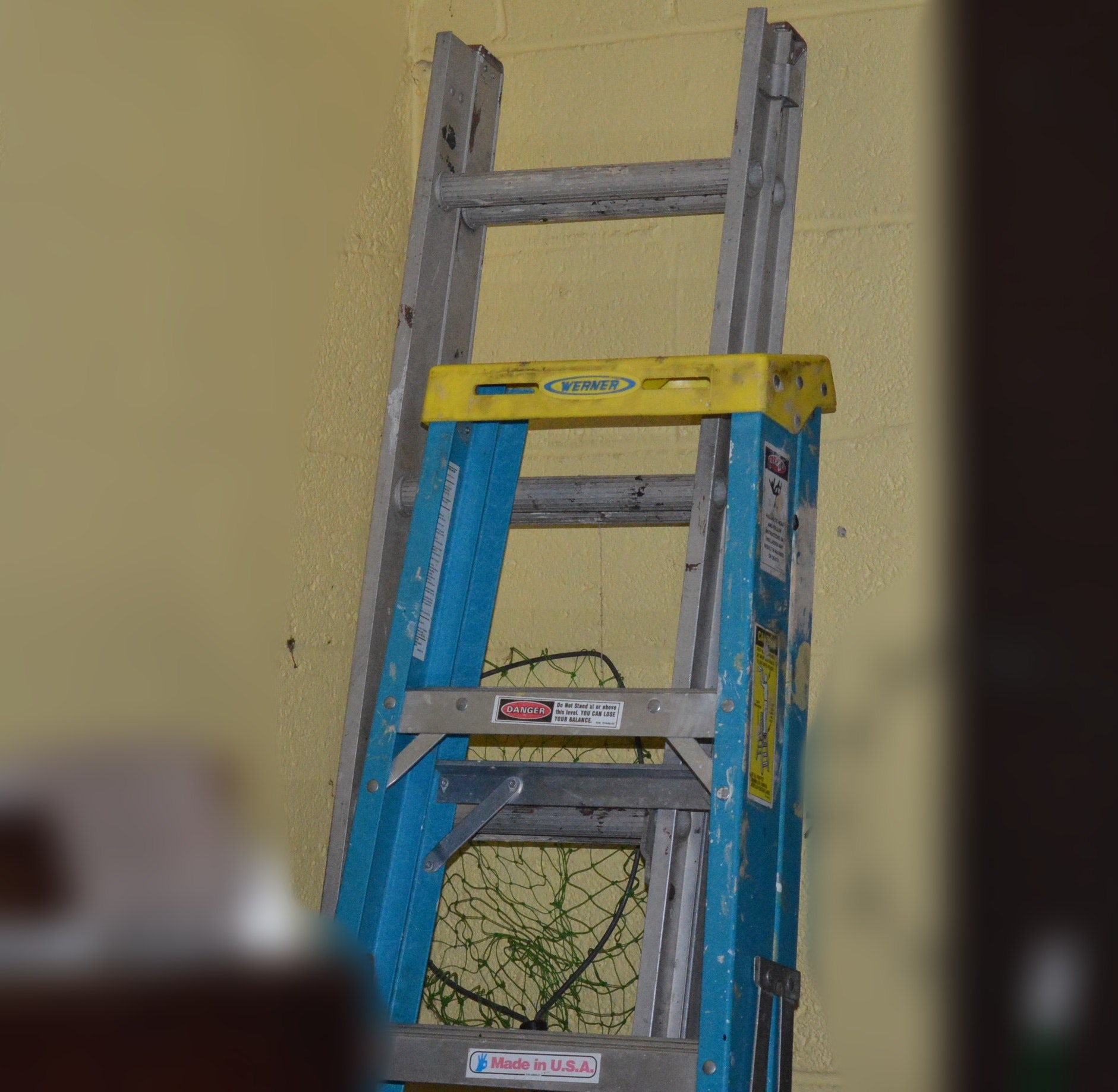 6' Werner Step Ladder and 8' Aluminum Extension Ladder
