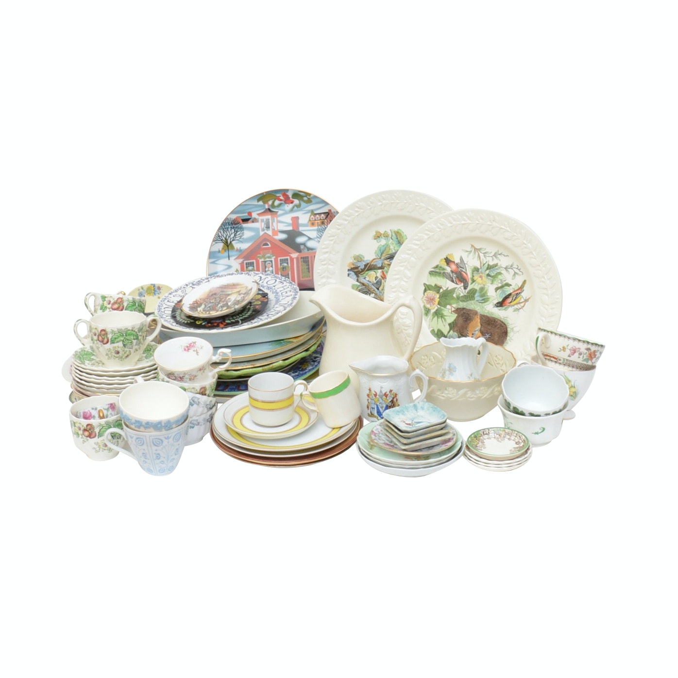 Mixed China Collection includes Spode, Haviland, Fitz & Floyd and More