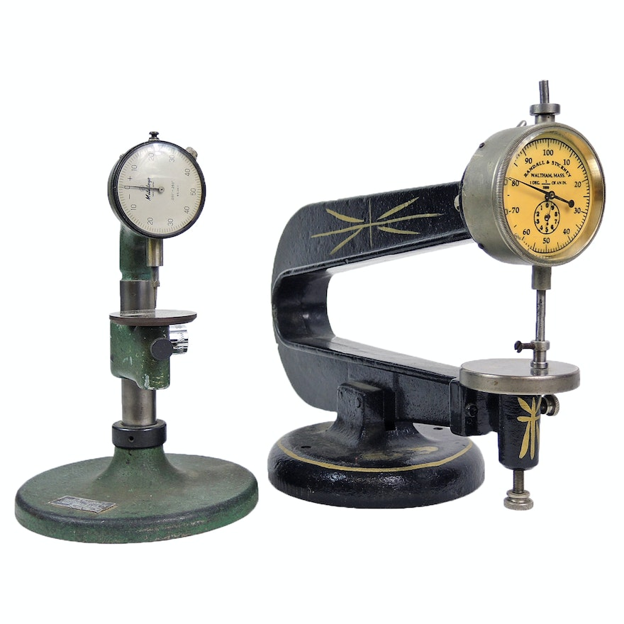 Randell & Stickney and Federal Precision Indicator Comparator Stands