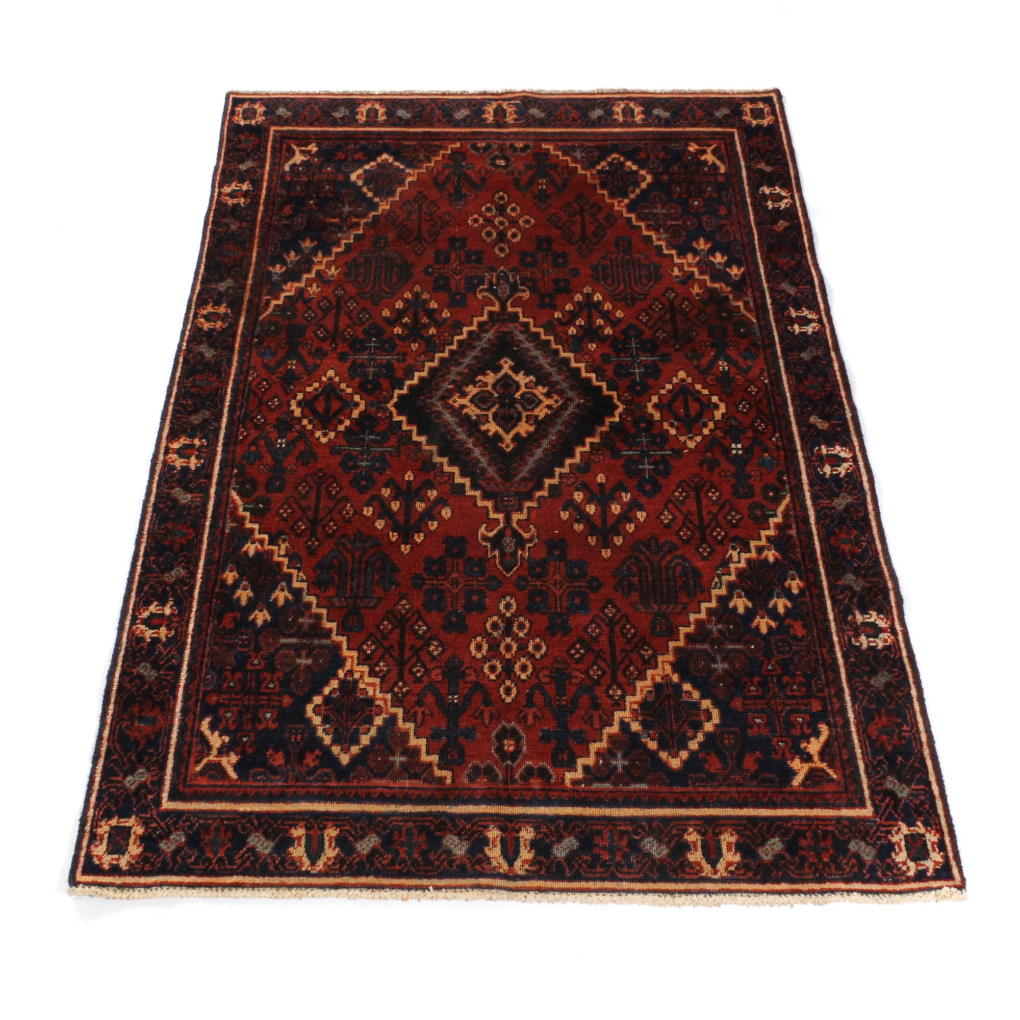 Vintage Hand-Knotted  Persian Josheghan Area Rug