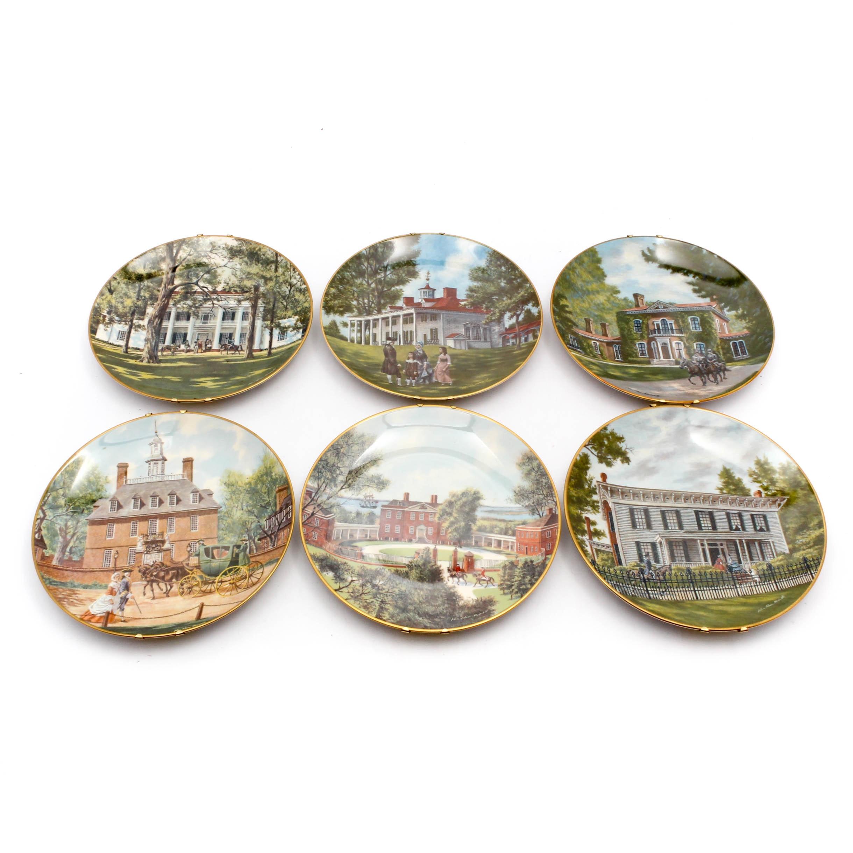 "Gorham American Commemorative Council ""Southern Landmark Series"" Plates"