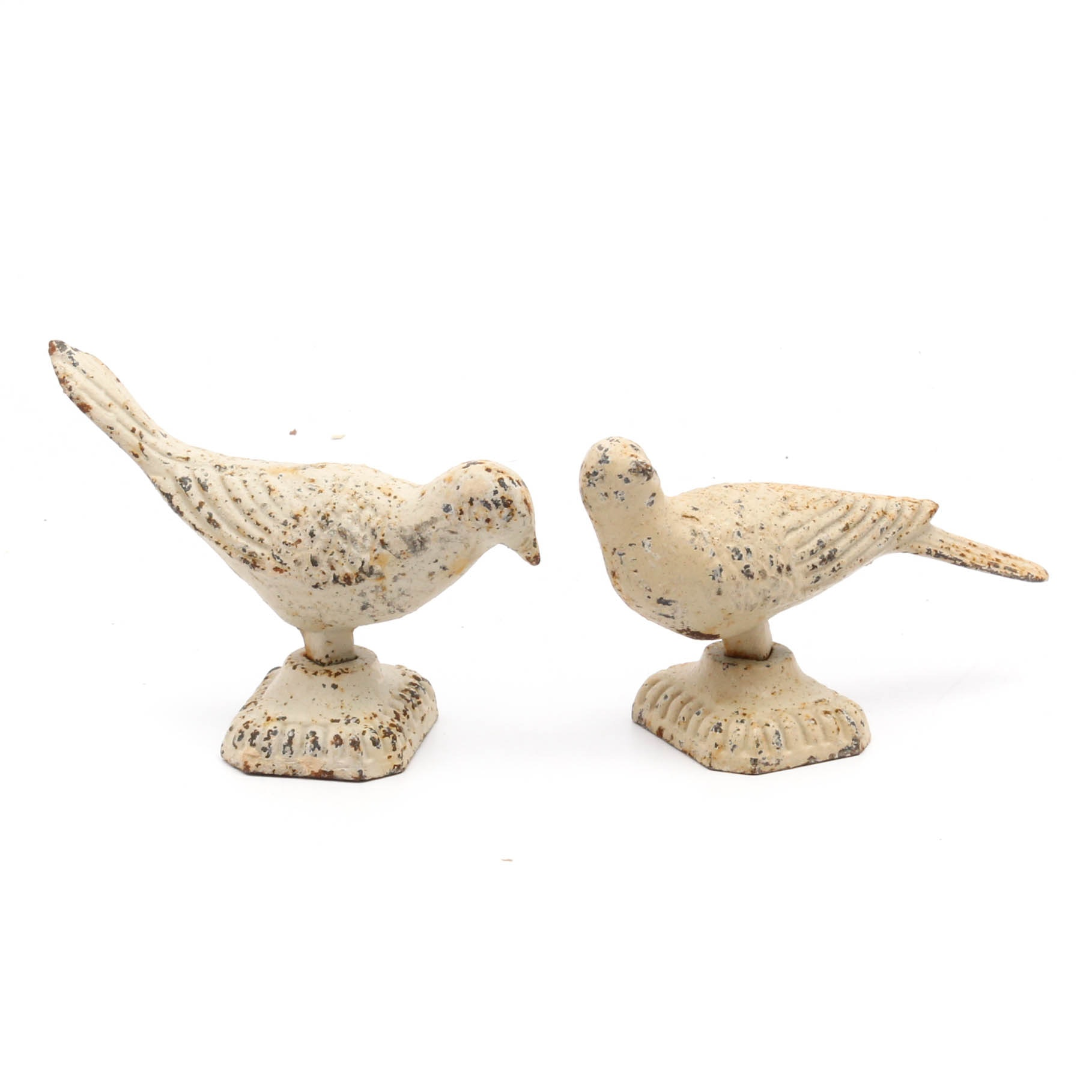 Vintage Cast Iron Bird Doorstops