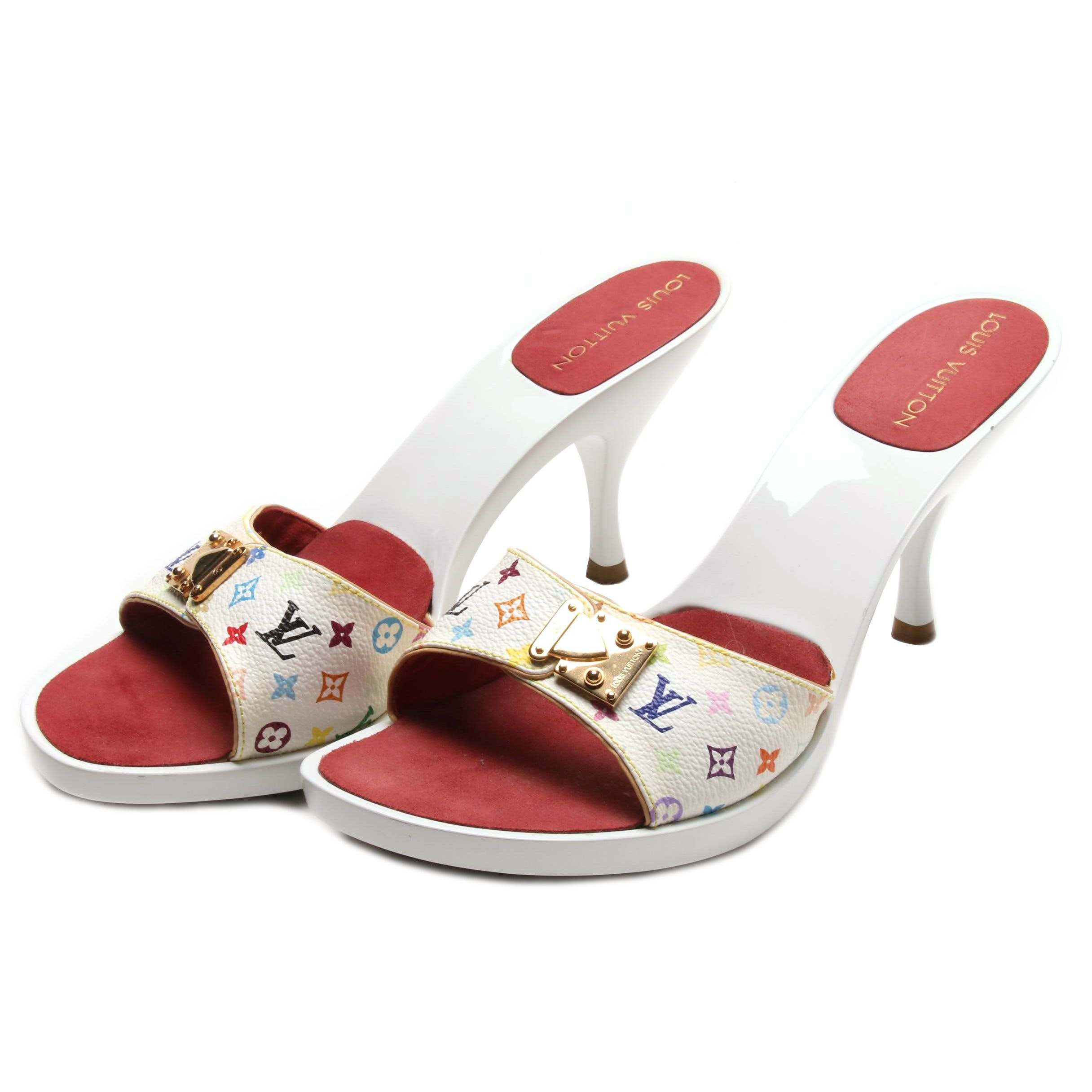 Louis Vuitton Multicolore Monogram Slide Sandals