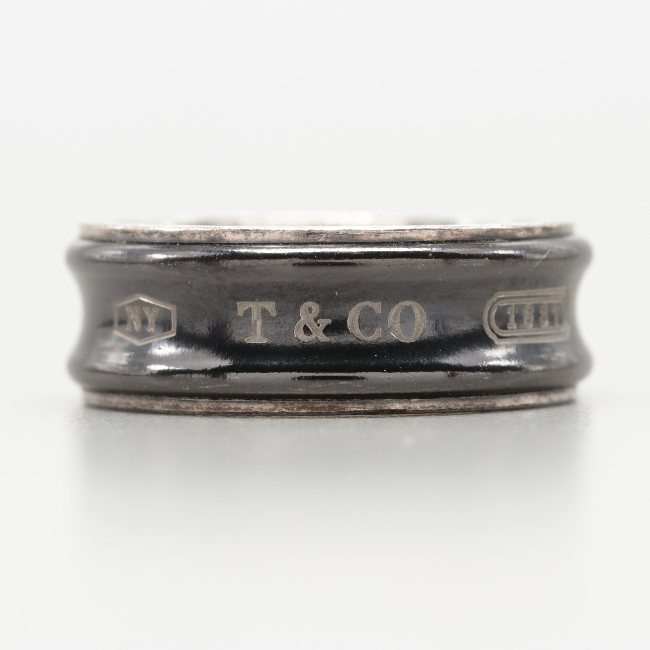 Tiffany & Co. Sterling Silver and Titanium Ring