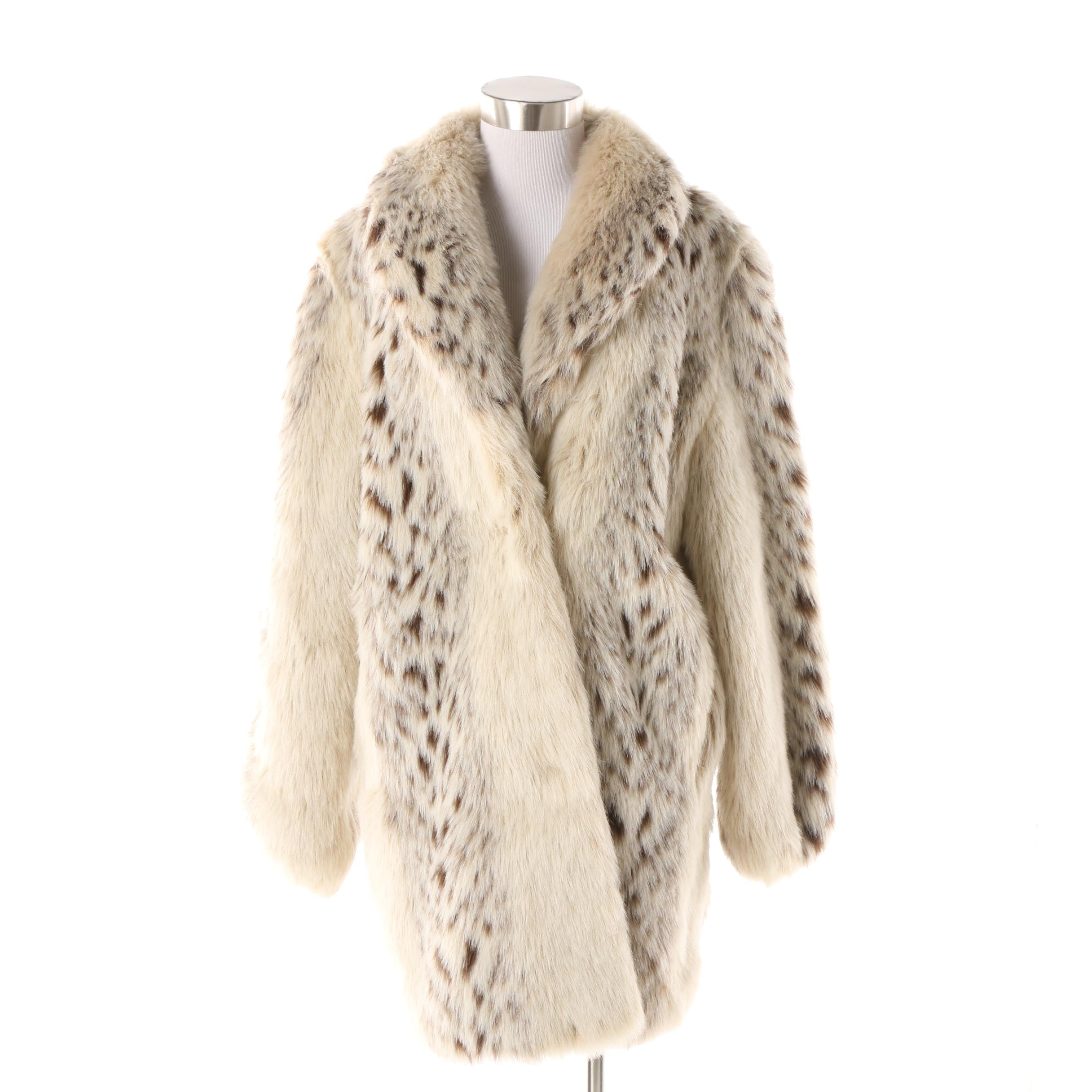 Women's Monterey Fashions Faux Fur Animal Print Jacket