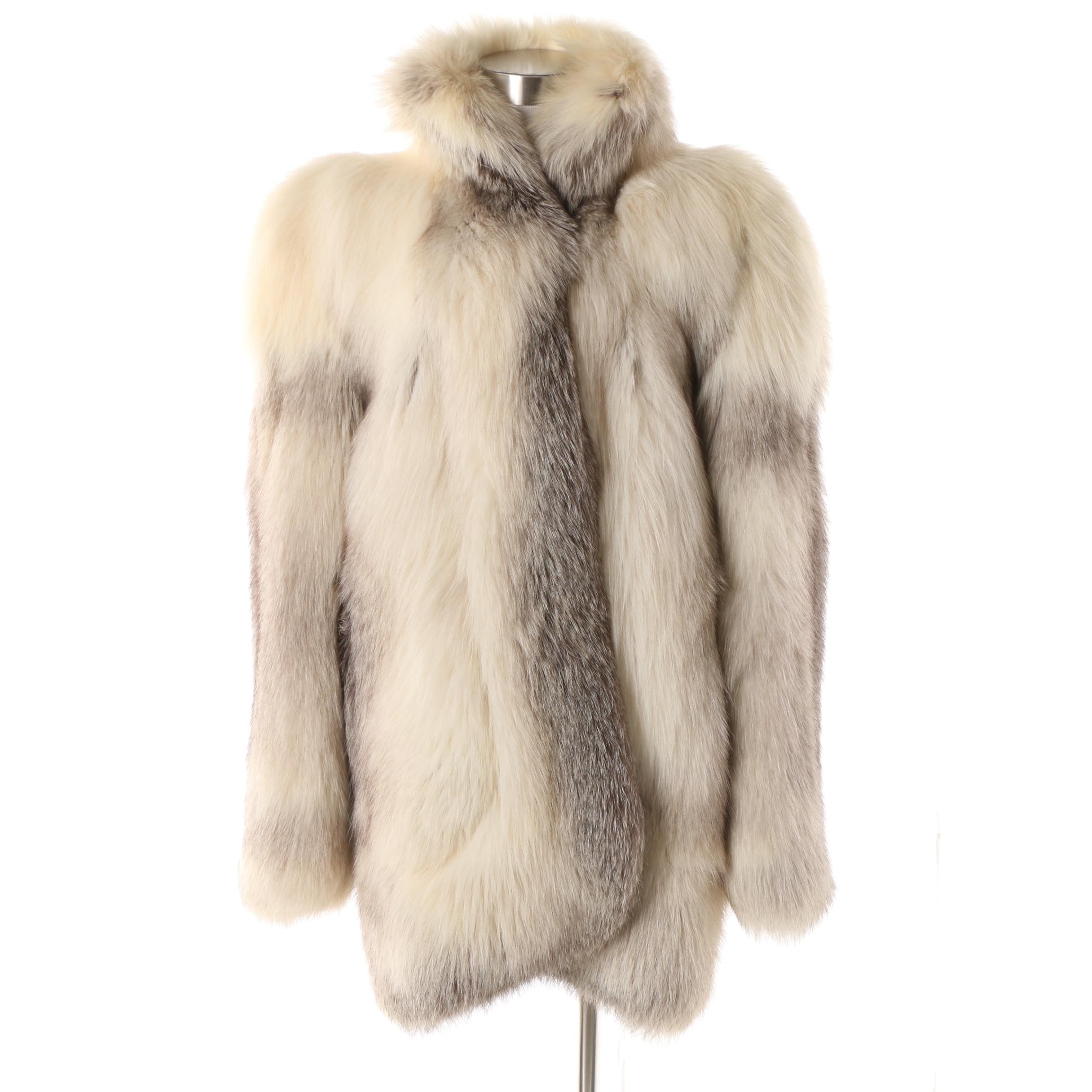 Women's Contemporary Fox Fur Stroller Jacket