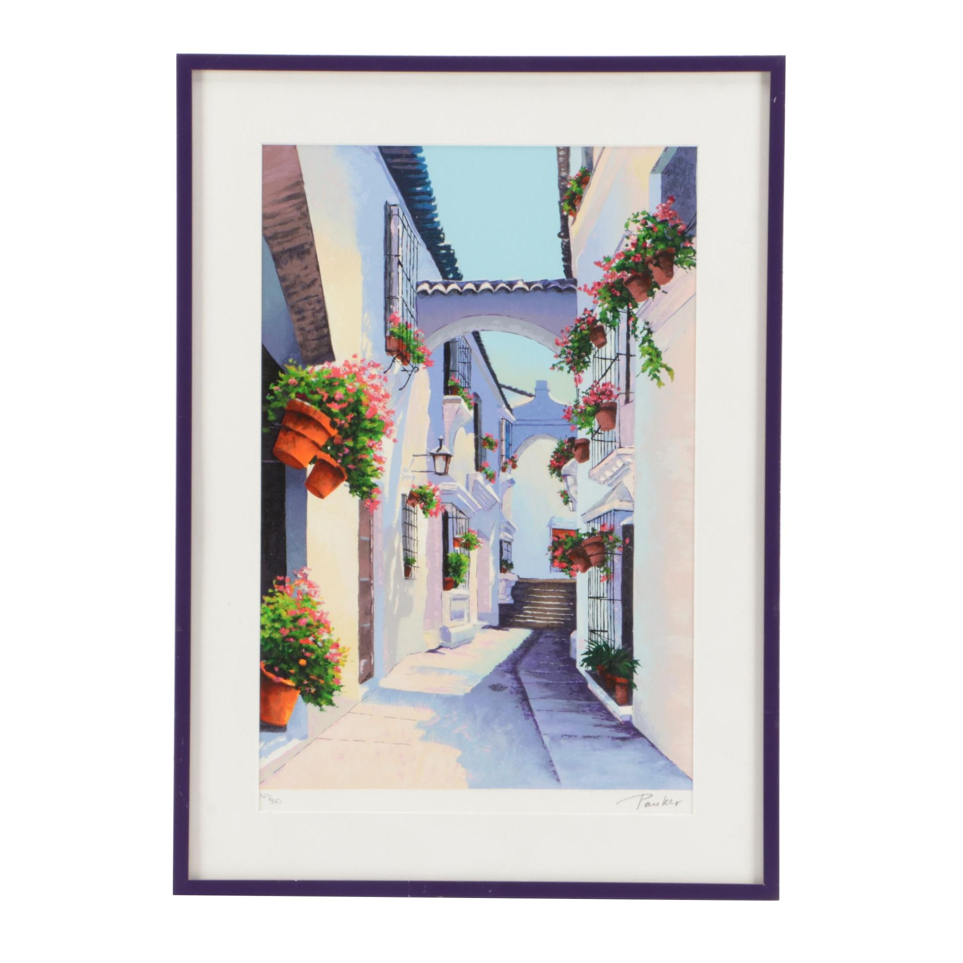 """Alex Pauker Limited Edition Serigraph """"Shadows and Pots"""""""