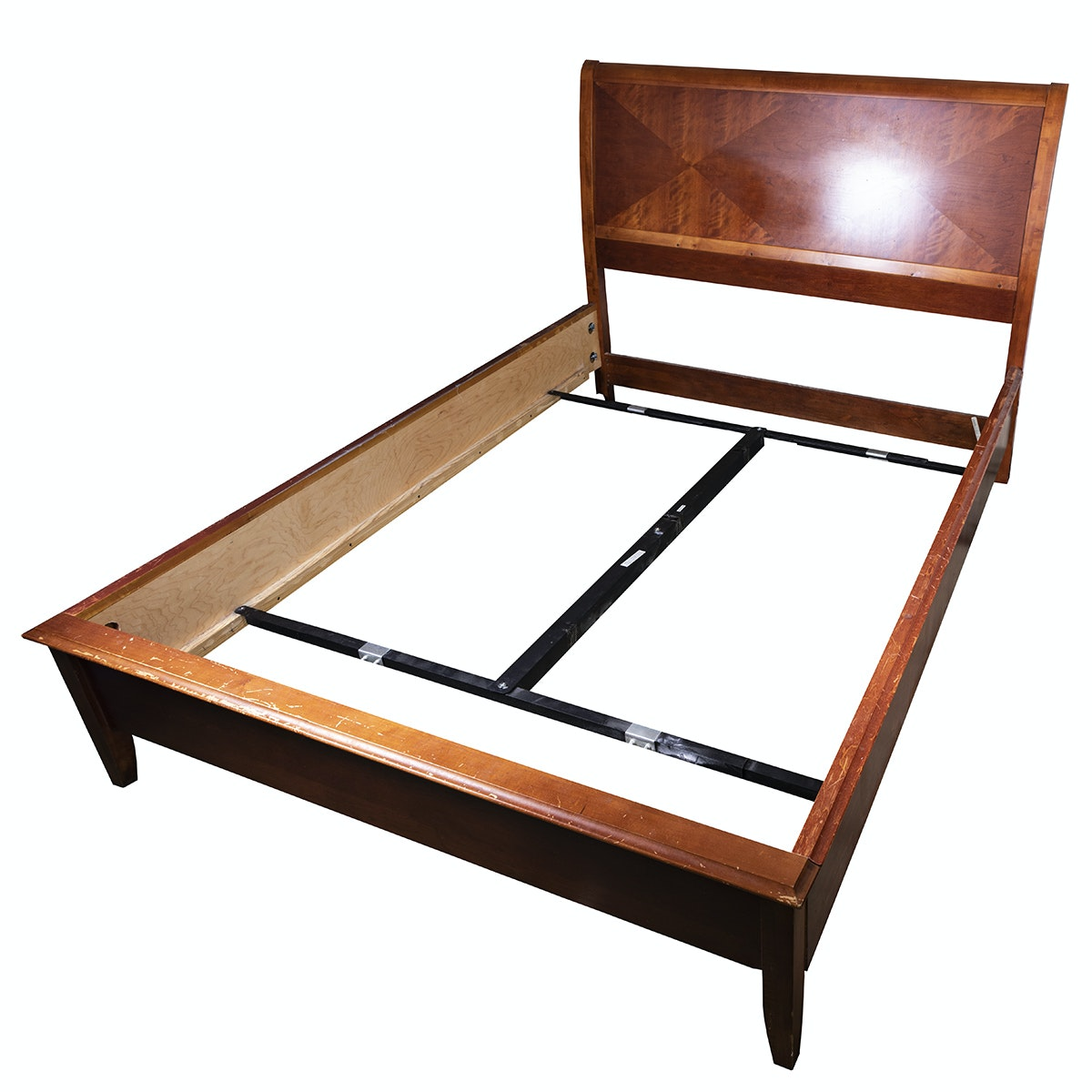 Contemporary Wood Queen Size Bed Frame by Bassett
