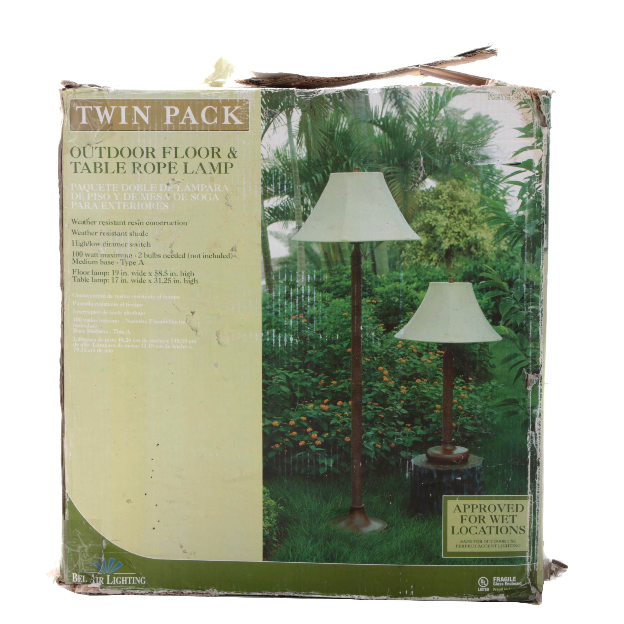 Bel Air Lighting Outdoor Floor Lamp and Table Lamp