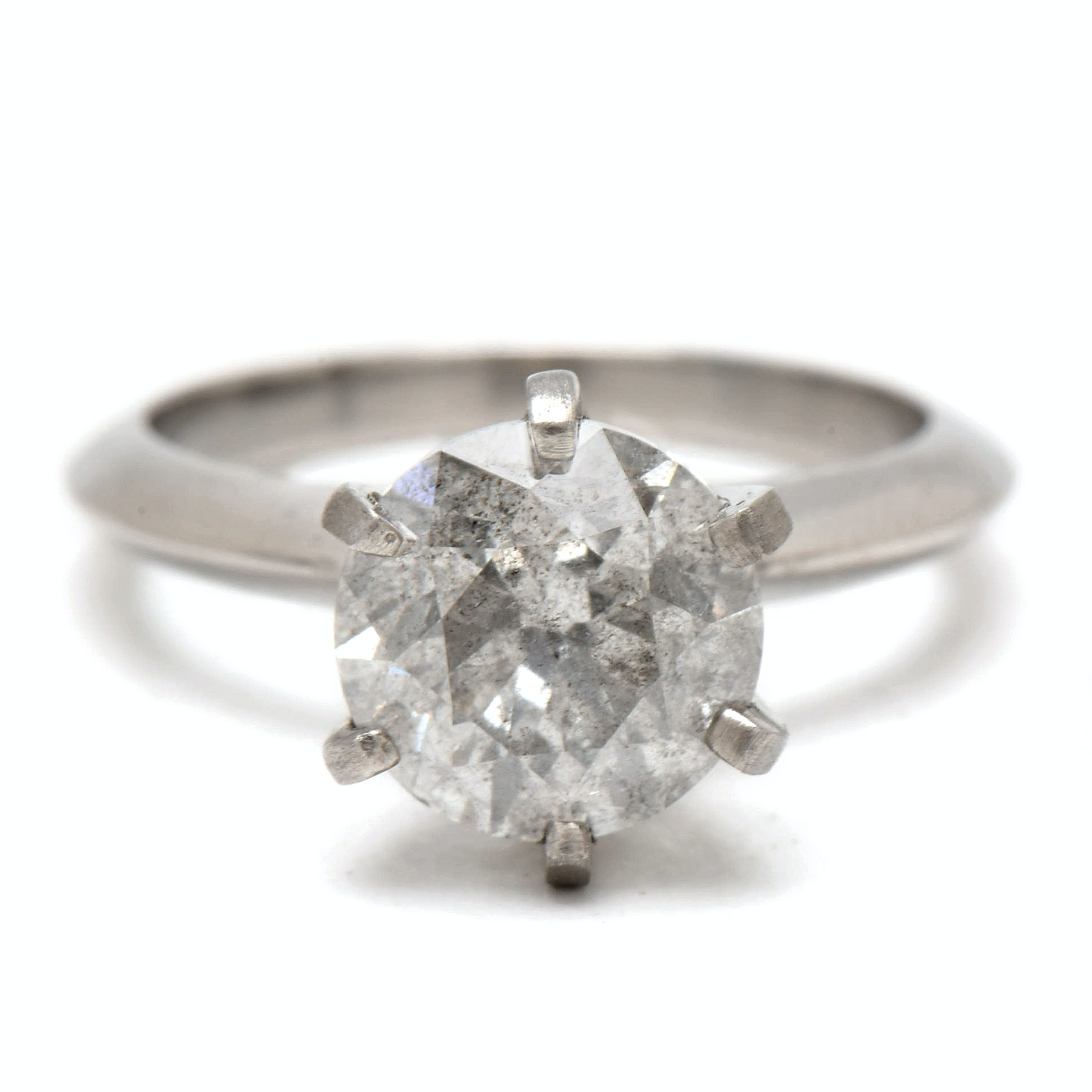 Platinum 3.15 CT Diamond Solitaire Ring