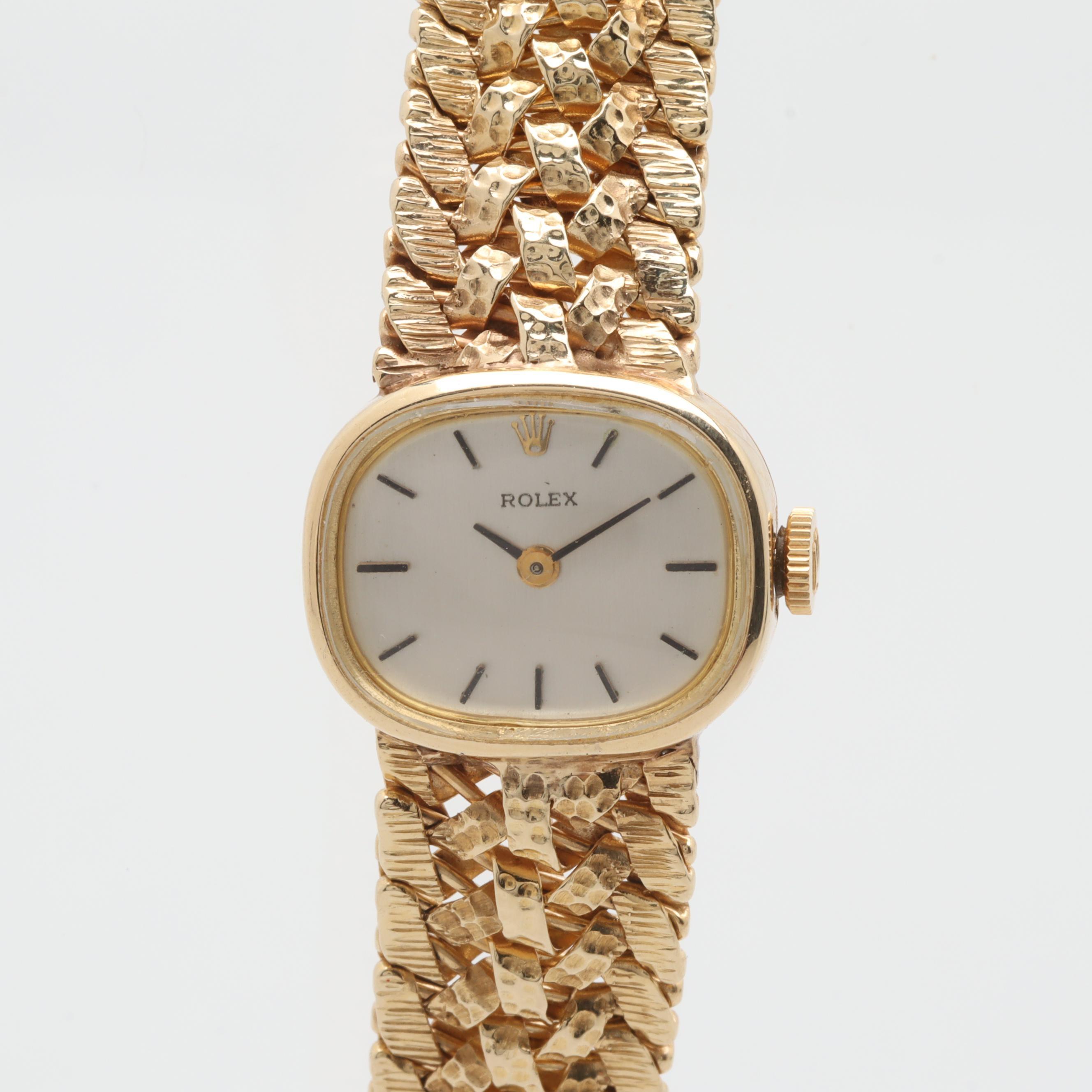 Rolex 14K Yellow Gold Stem Wind Wristwatch