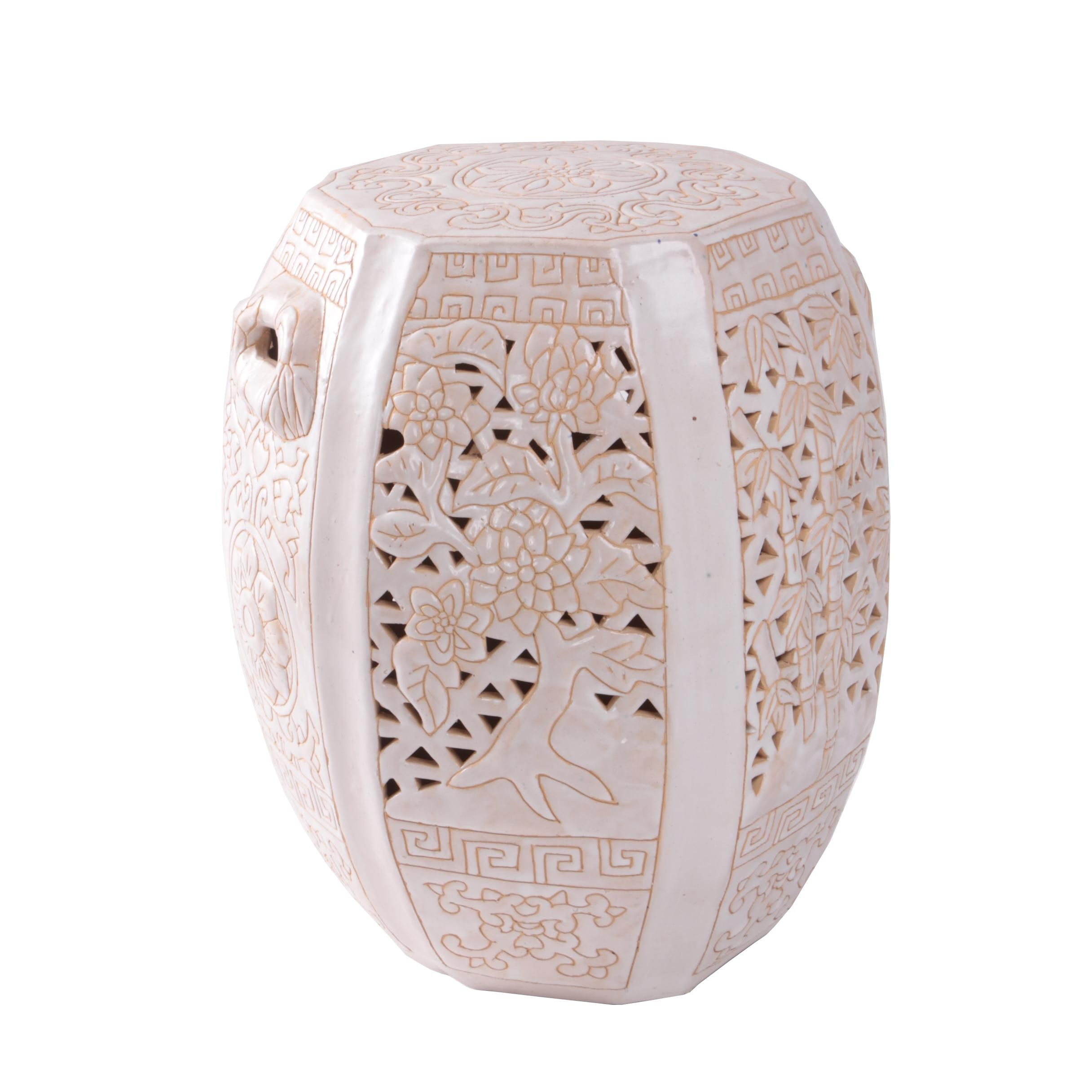 Chinese Reticulated Ceramic Garden Stool